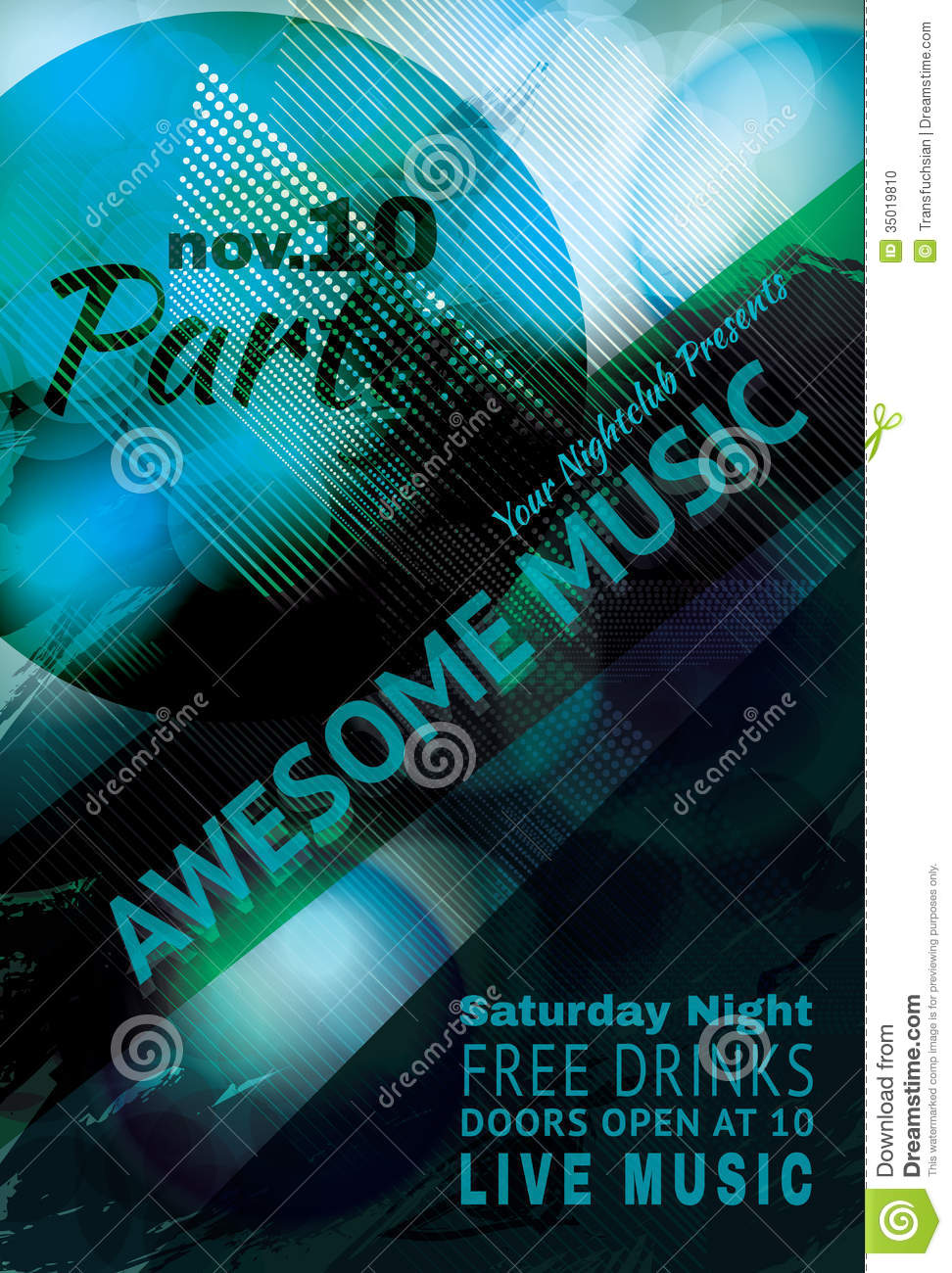 Grungy Teal Flyer Background Design Stock Photo - Image: 35019810