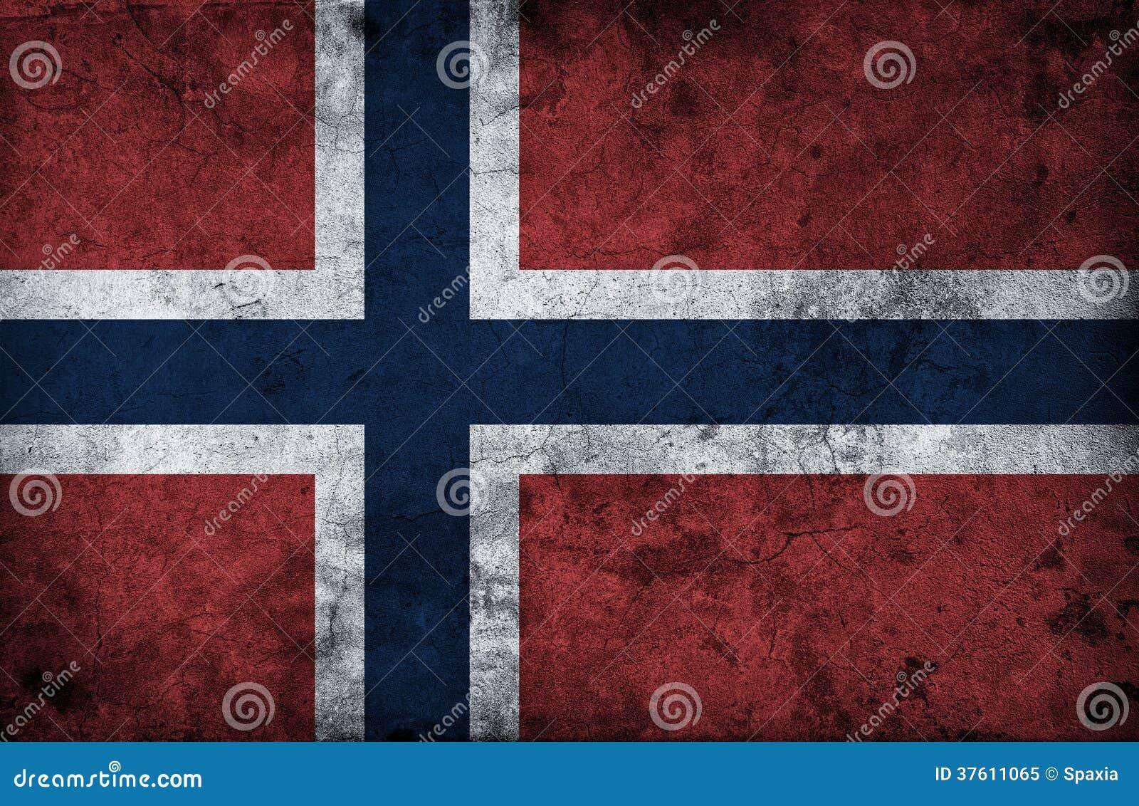 Grungy Vlag van Noorwegen