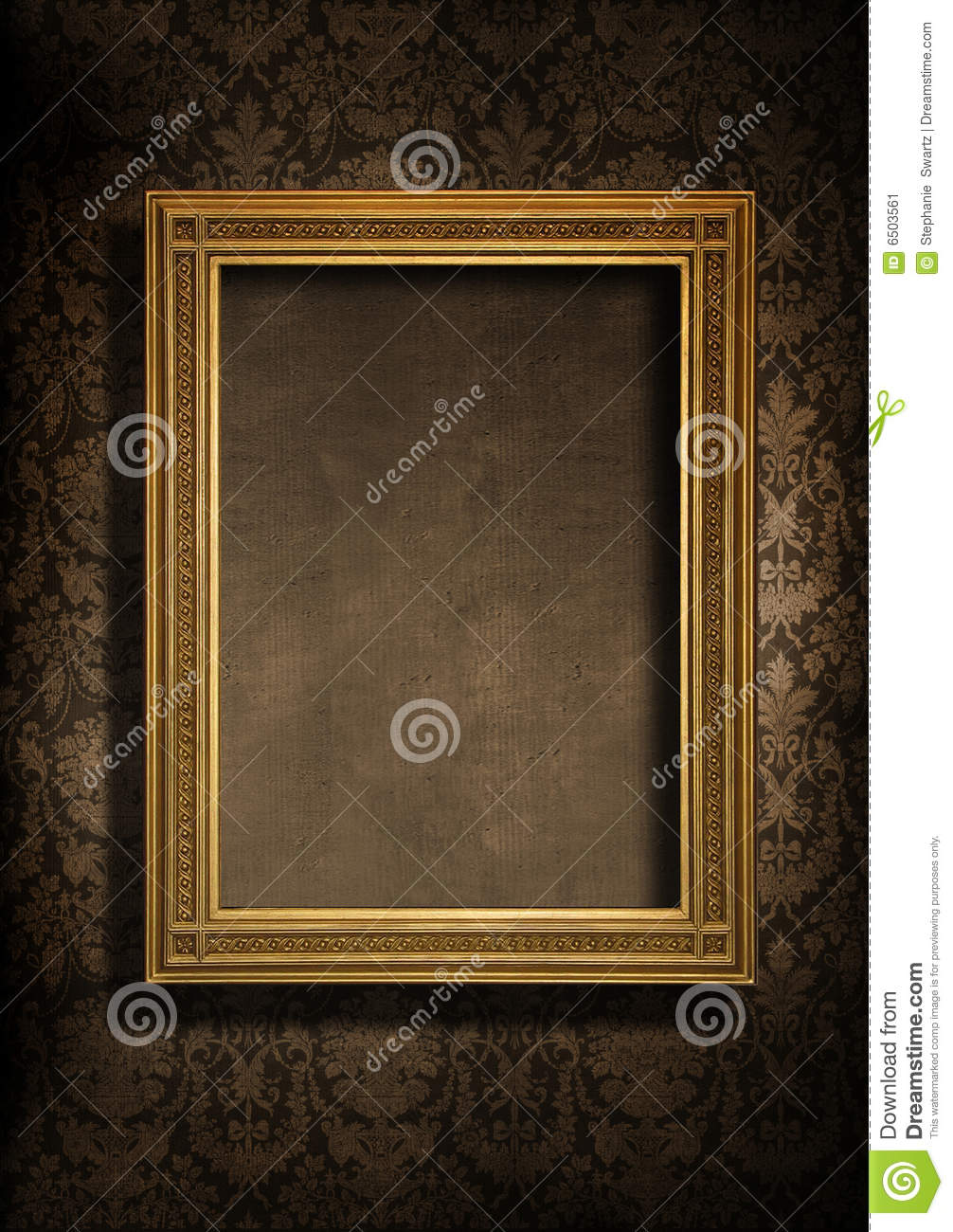 Grungy wall and frame