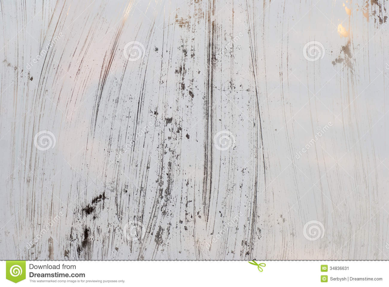 Grungy White Background Glass Painted With White Paint Stock Image