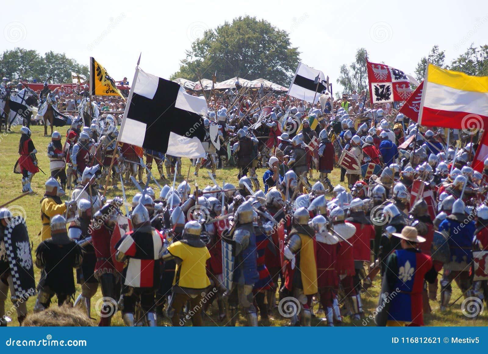 Grunwald, Polonia - 2009-07-18: Battaglia