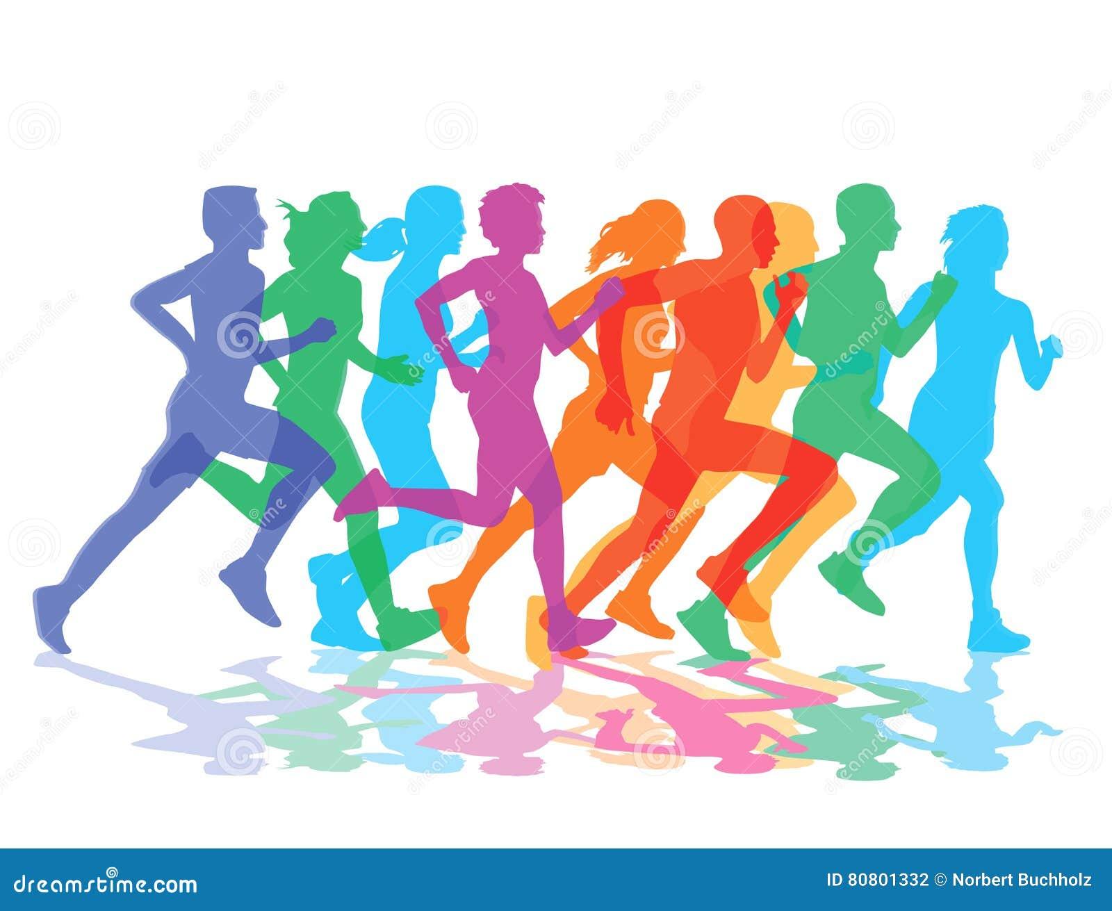 Grupa biegacze