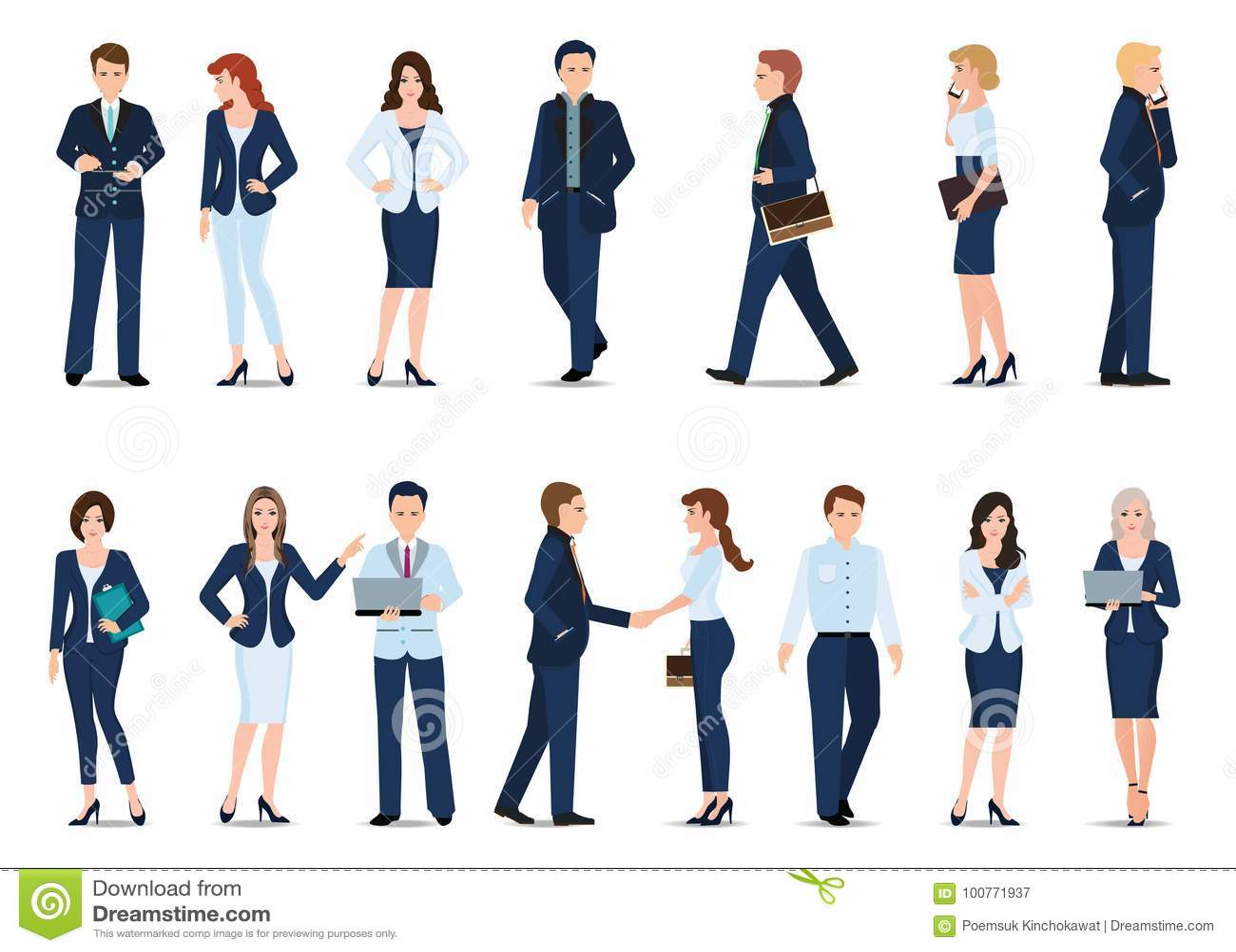 Grupa Biznesowy mężczyzna i biznesowa kobieta odizolowywający na bielu