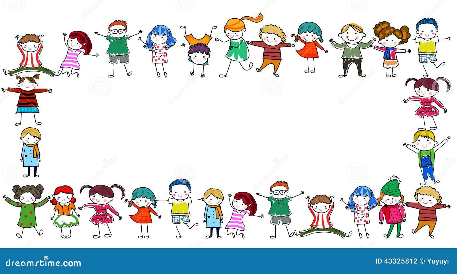 Grupa dzieciak rama