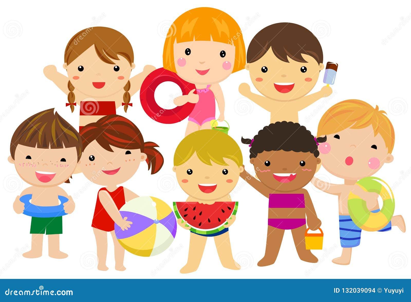 Grupa dziecka lata kolekcja