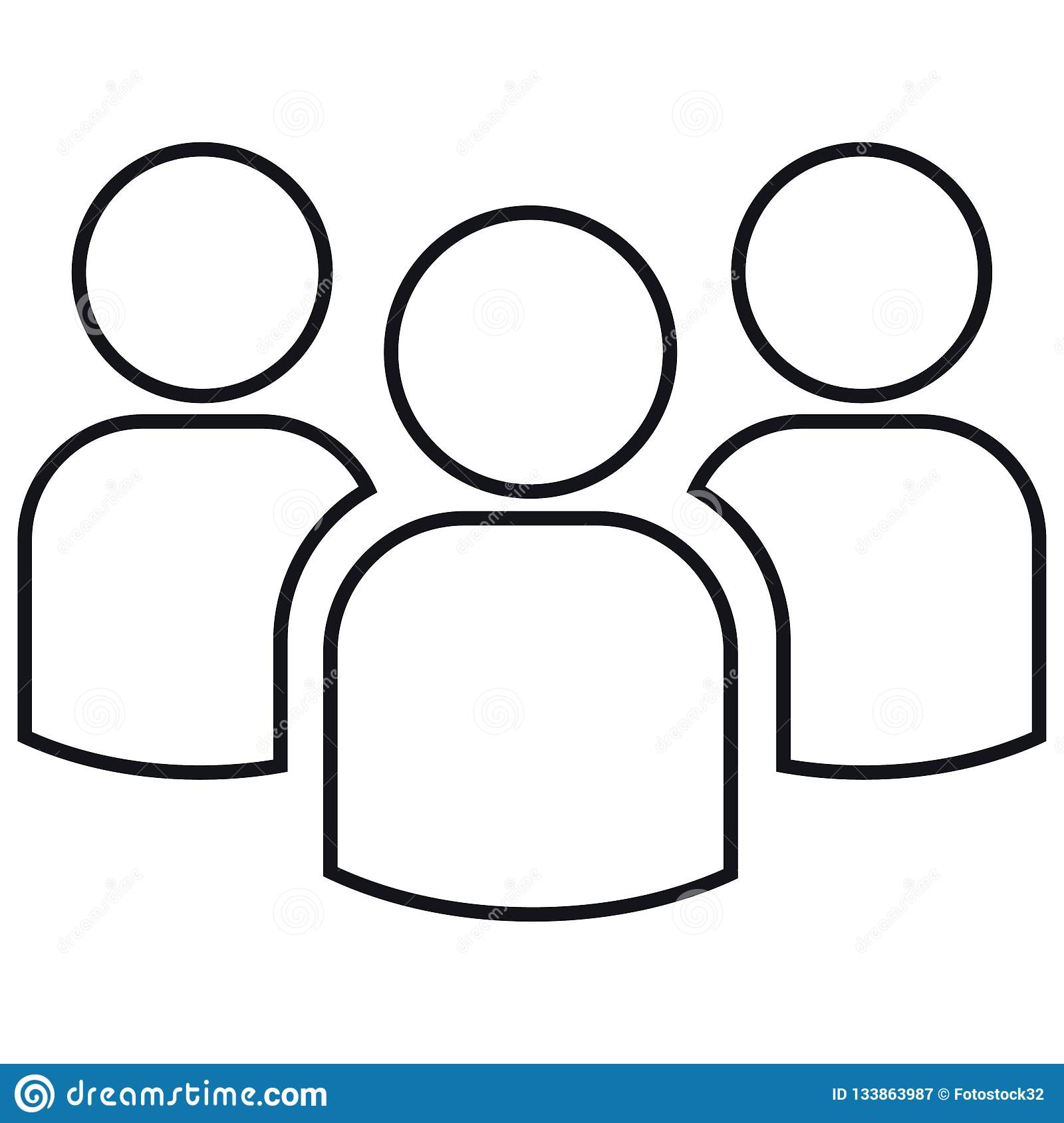 Grupa kontury trzy ludzie