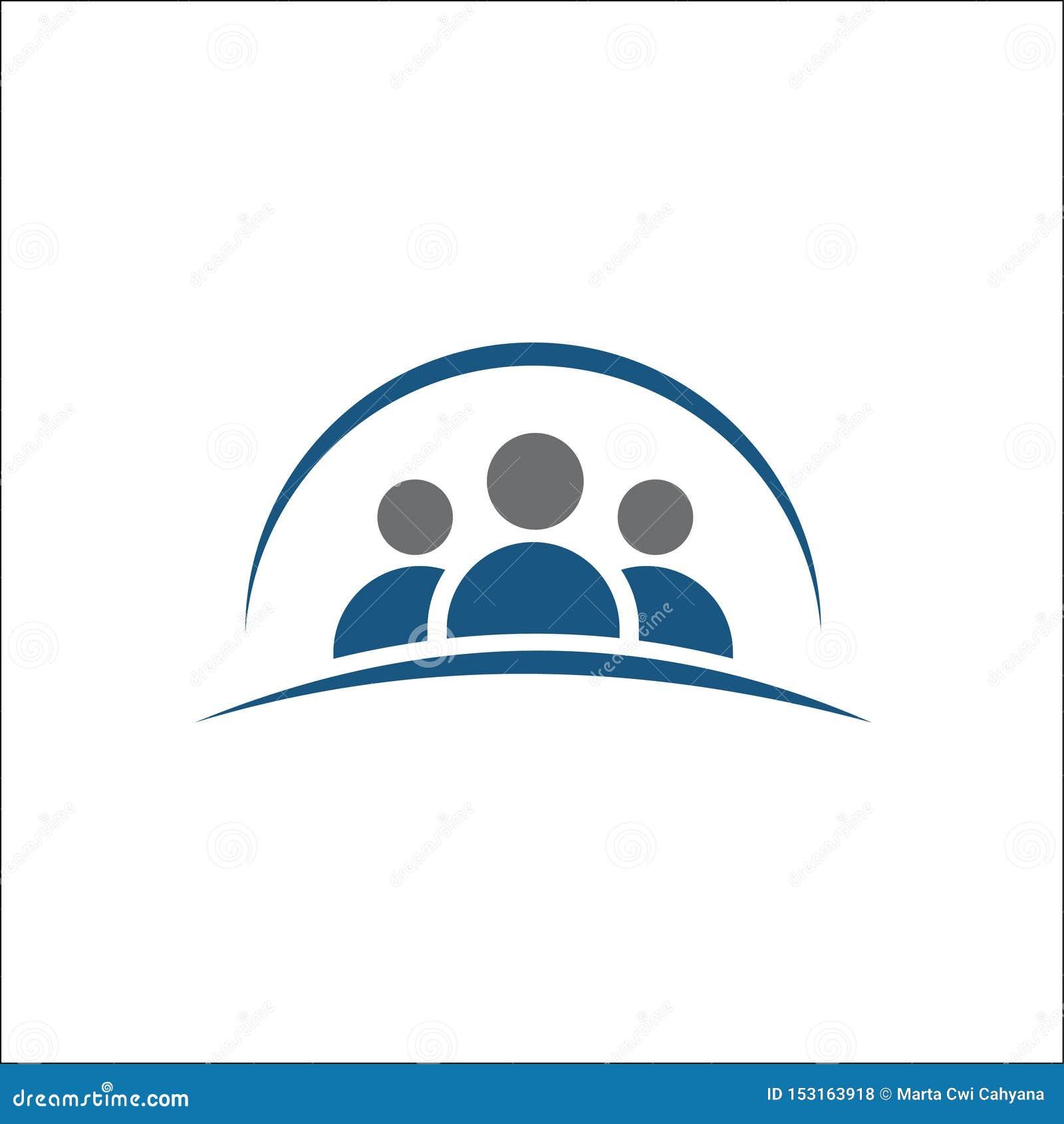 Grupa ludzi ikona, przyjaciele ikona, logo wektoru ilustracja