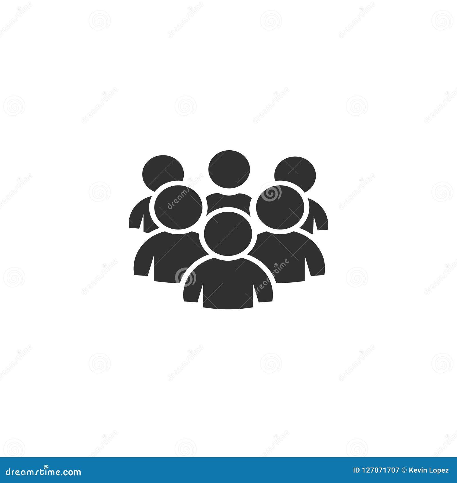 Grupa ludzi, ikona wektor