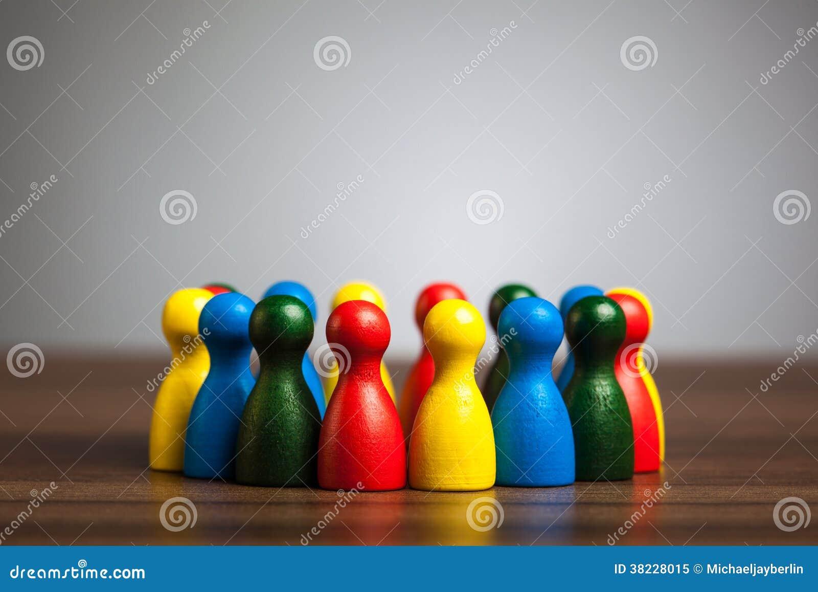 Grupa, okrąg przyjaciele, różnorodność, zlany pojęcie