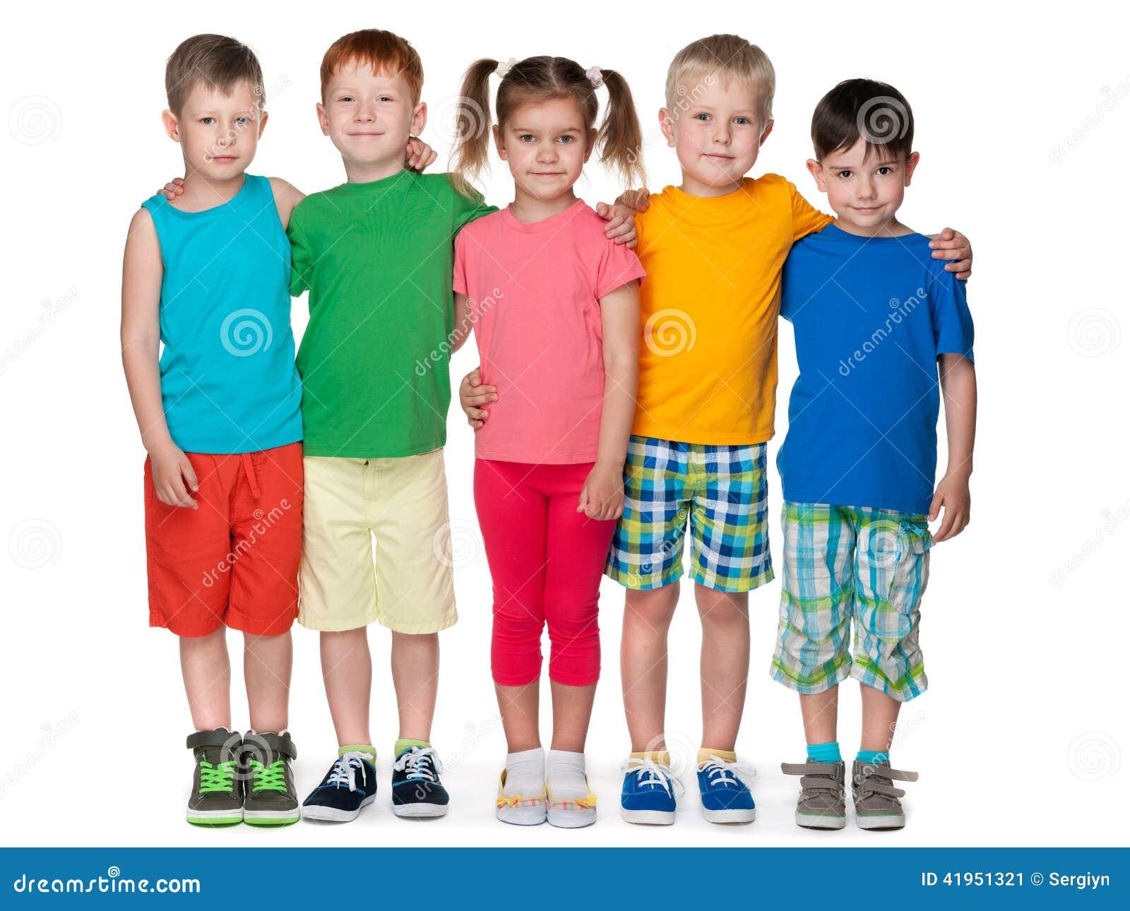 Grupa pięć mod dzieci