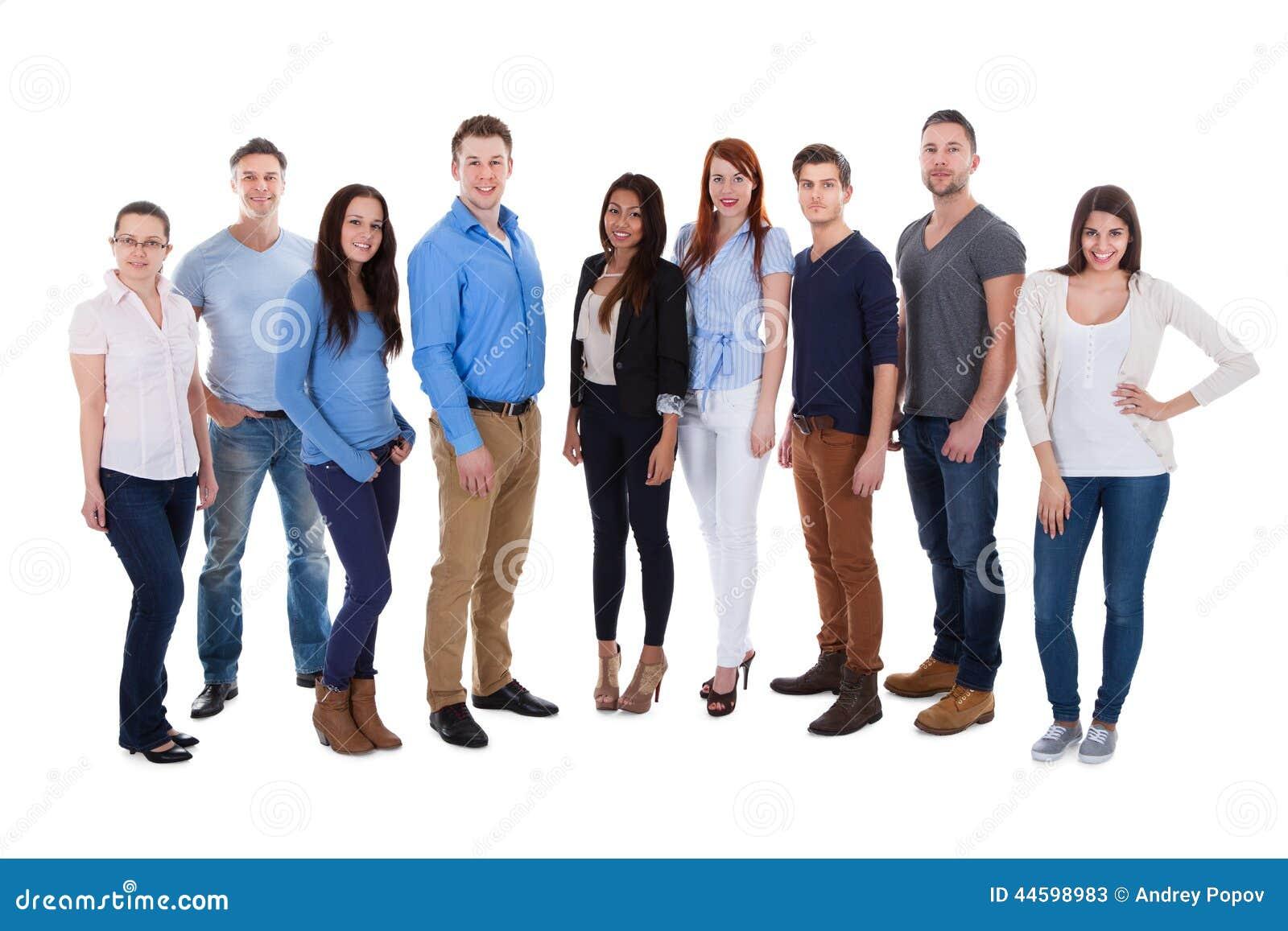 Grupa różnorodni ludzie