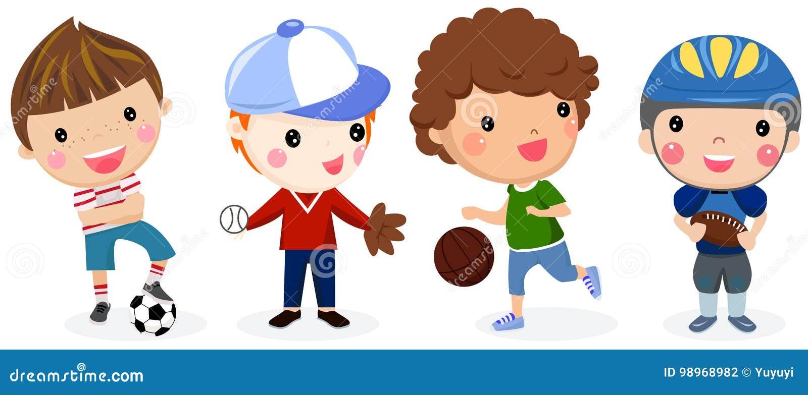Grupa sport chłopiec