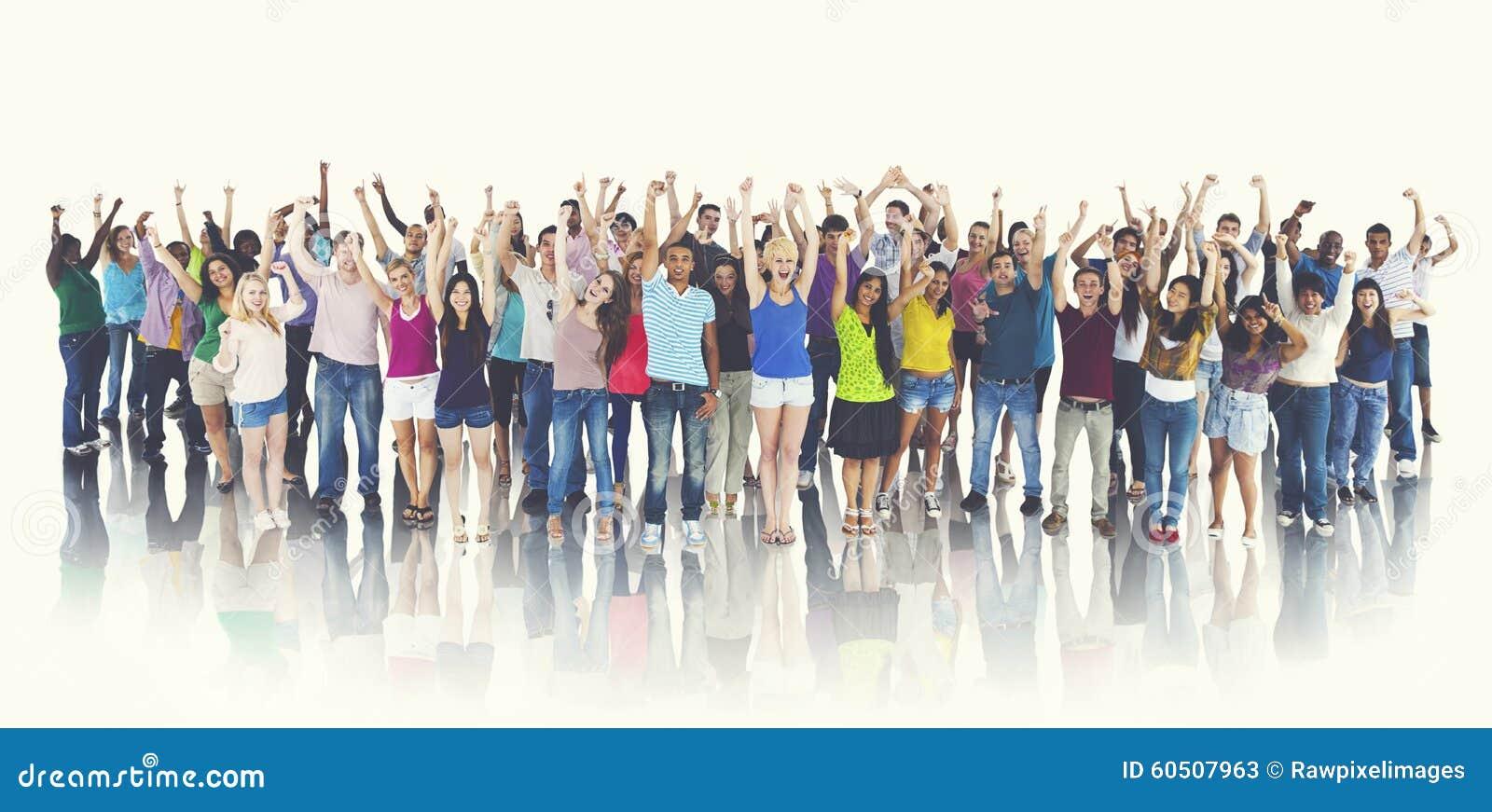 Grupa Szczęśliwego ucznia świętowania Rozochocony pojęcie