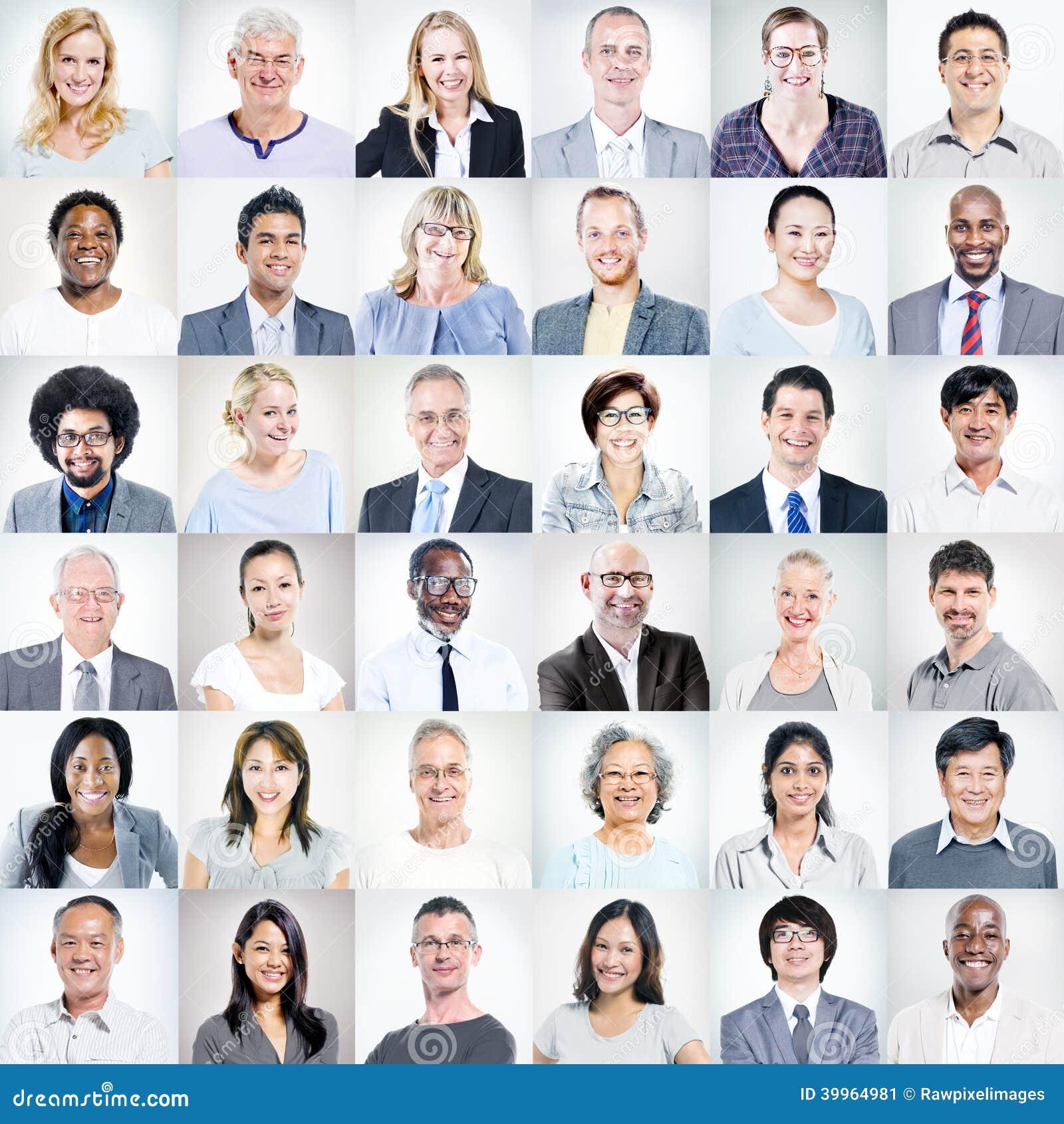 Grupa Wieloetniczni Różnorodni ludzie biznesu