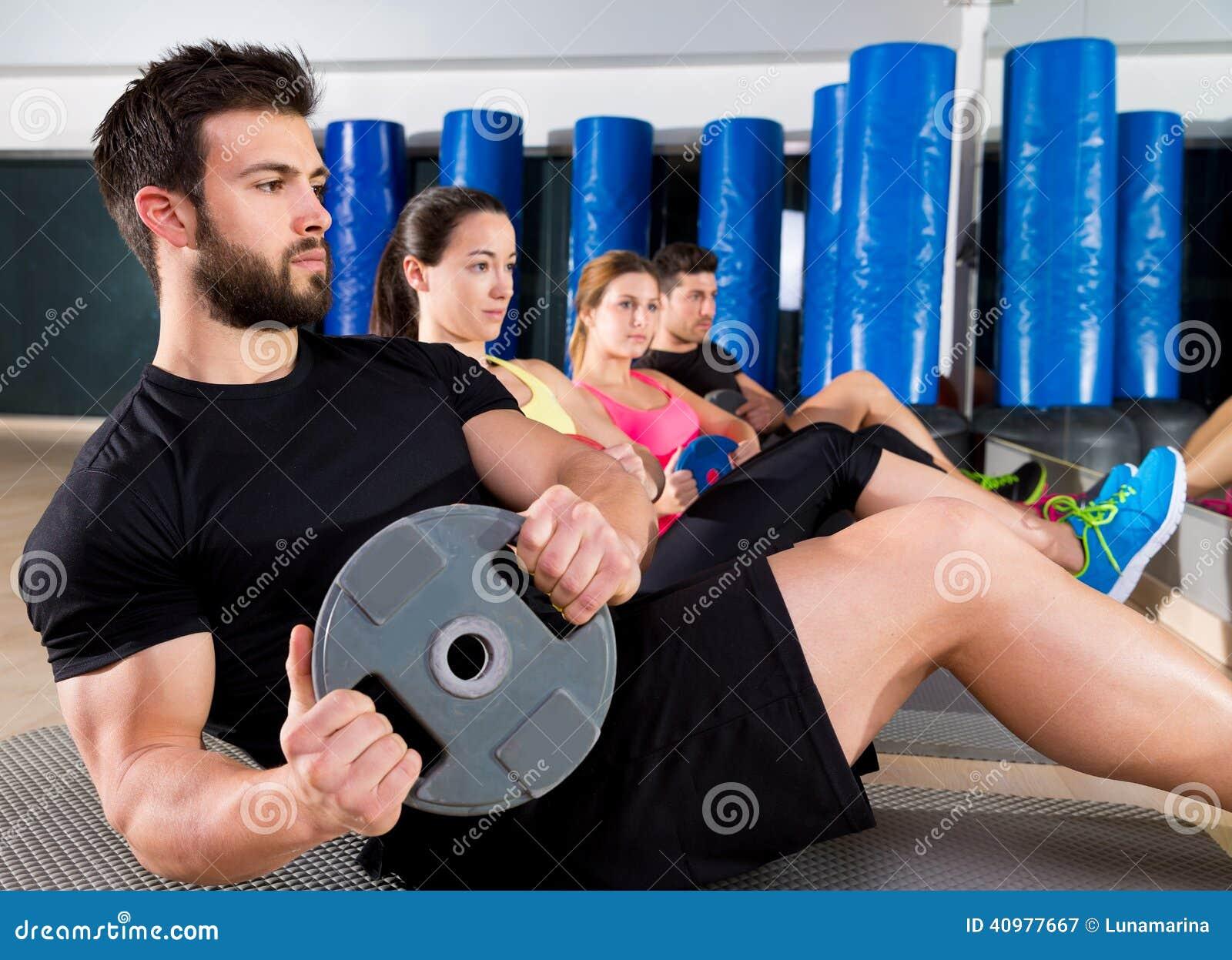 Grupo central de formação da placa abdominal no gym