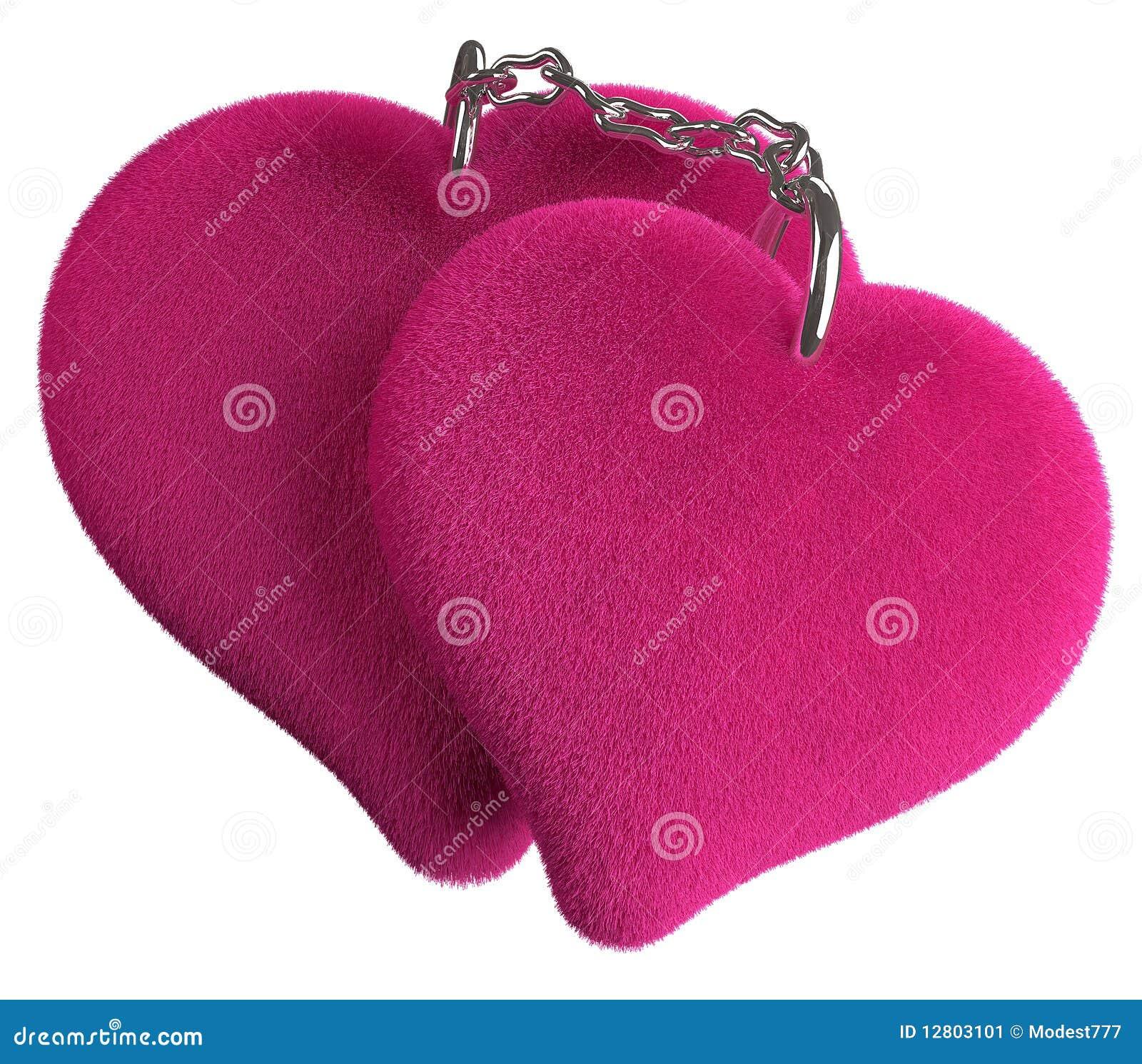 Grupo chain de dois corações loving