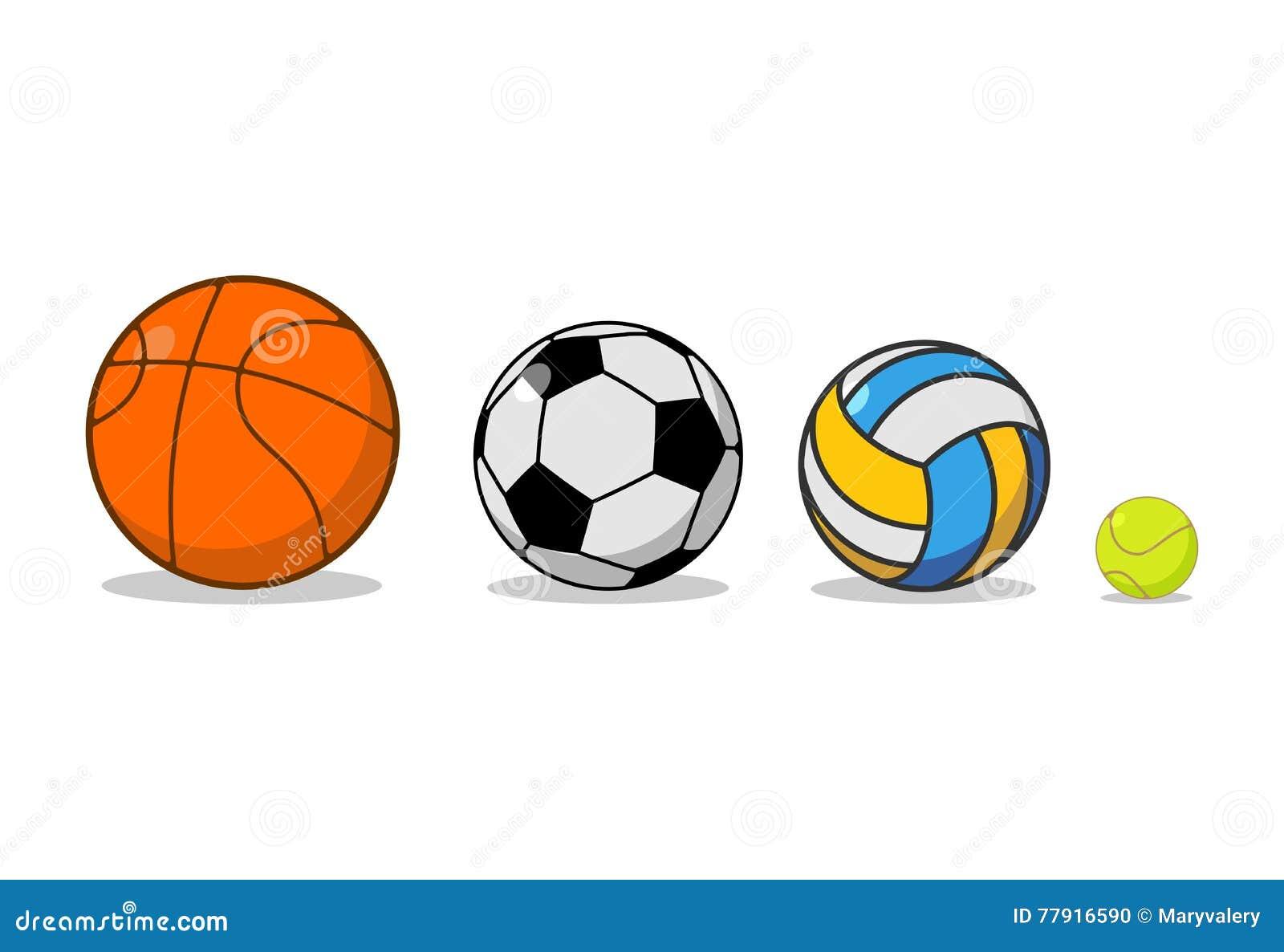 Grupo Da Bola Dos Esportes Basquetebol E Futebol Tênis E Voleibol ... ed6ed9734bc35