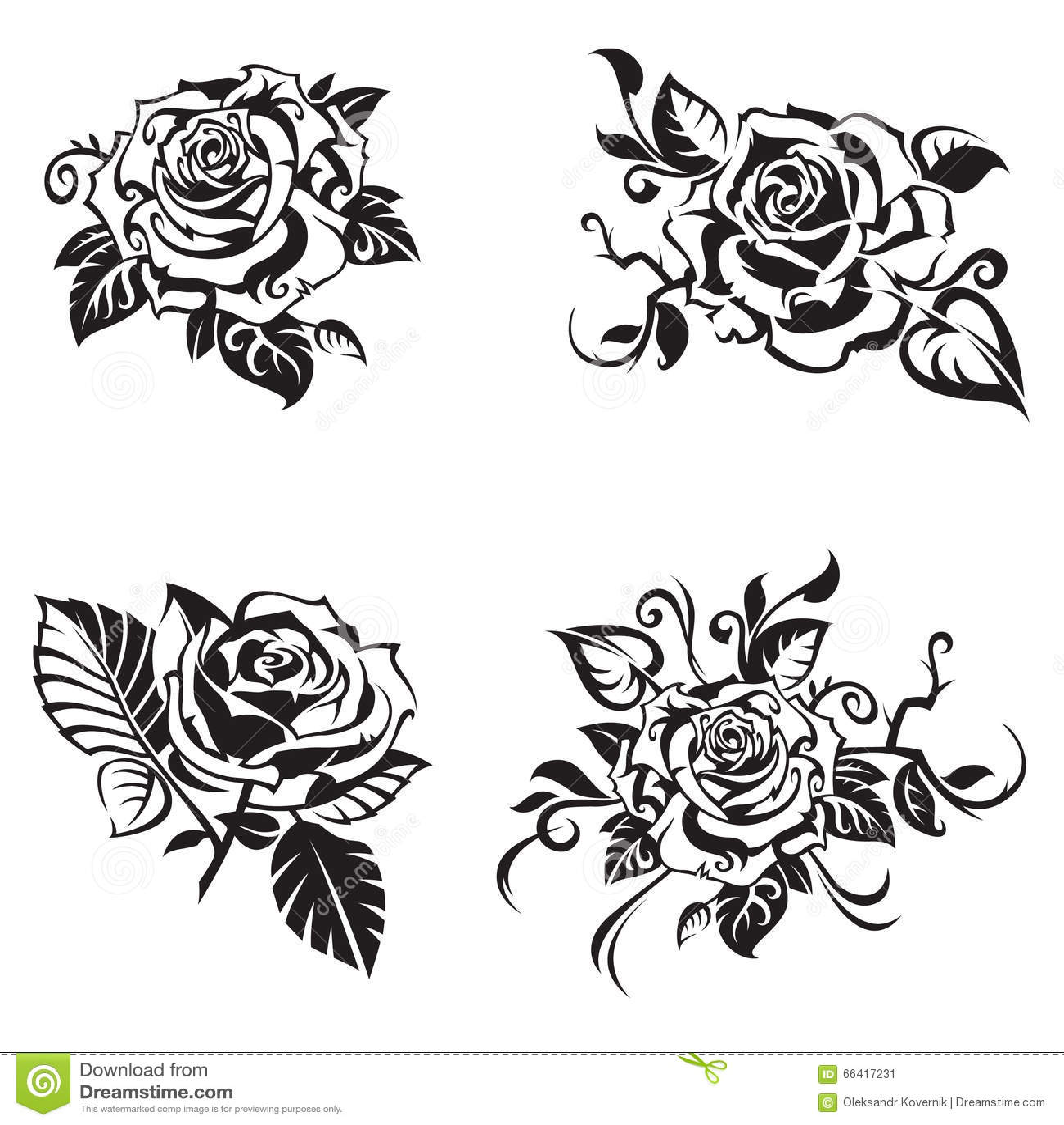 Grupo da rosa do preto