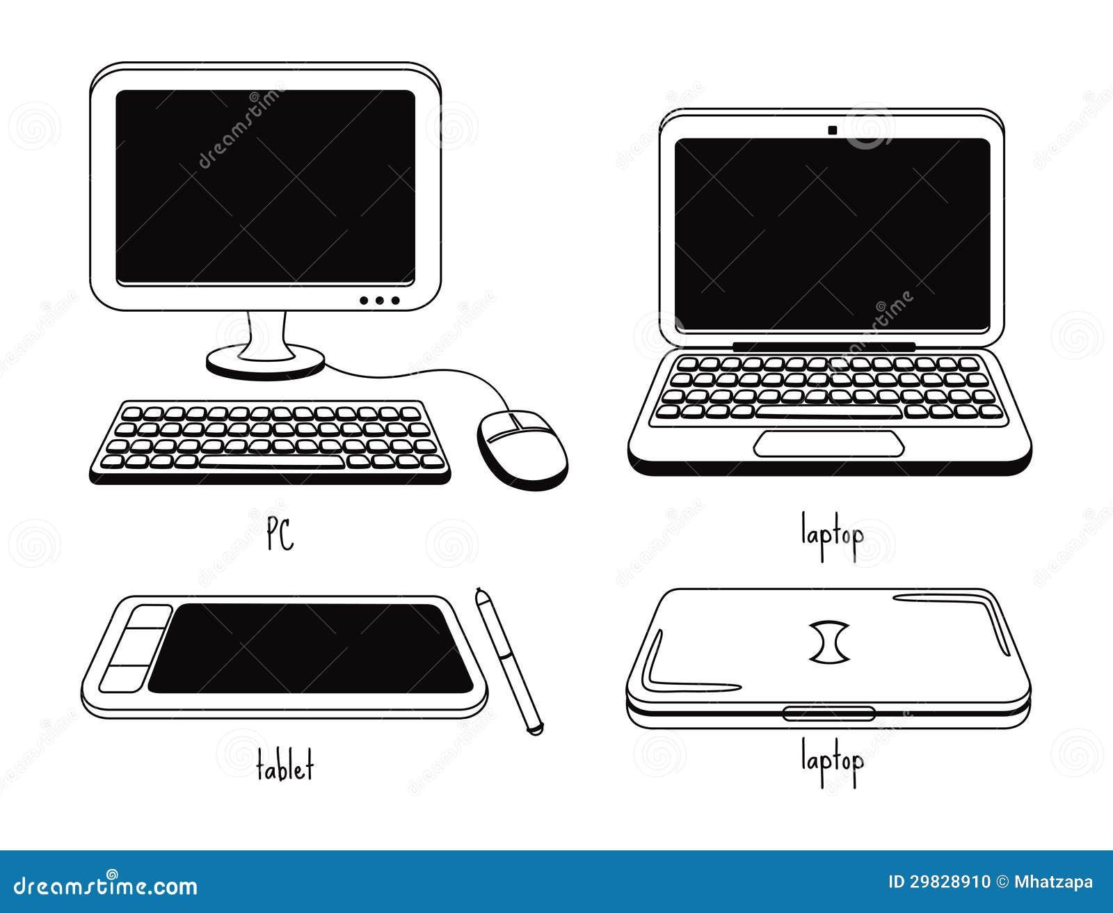 Grupo de ícone do computador