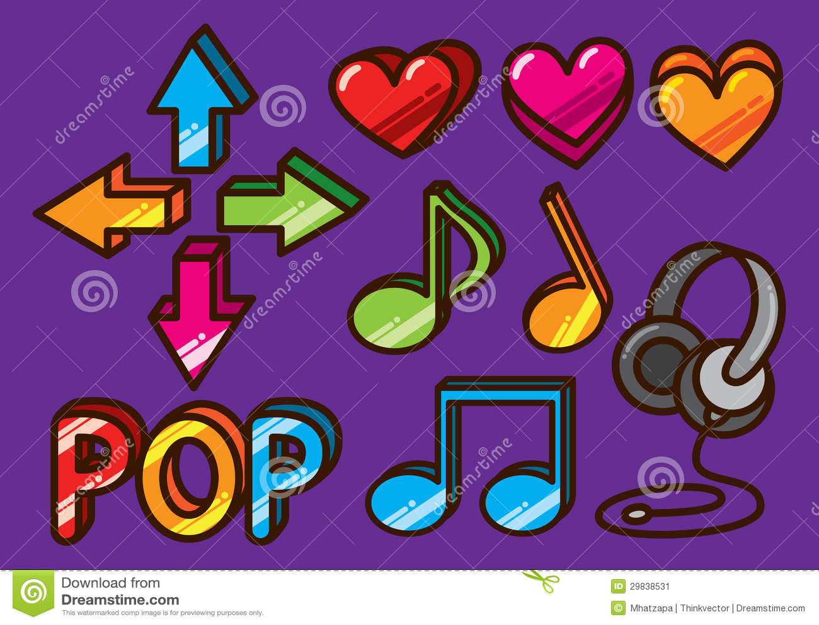 Ícone lustroso da música