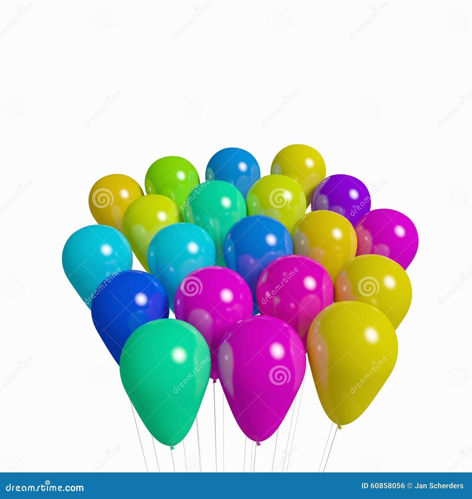 Grupo de balões não transparentes