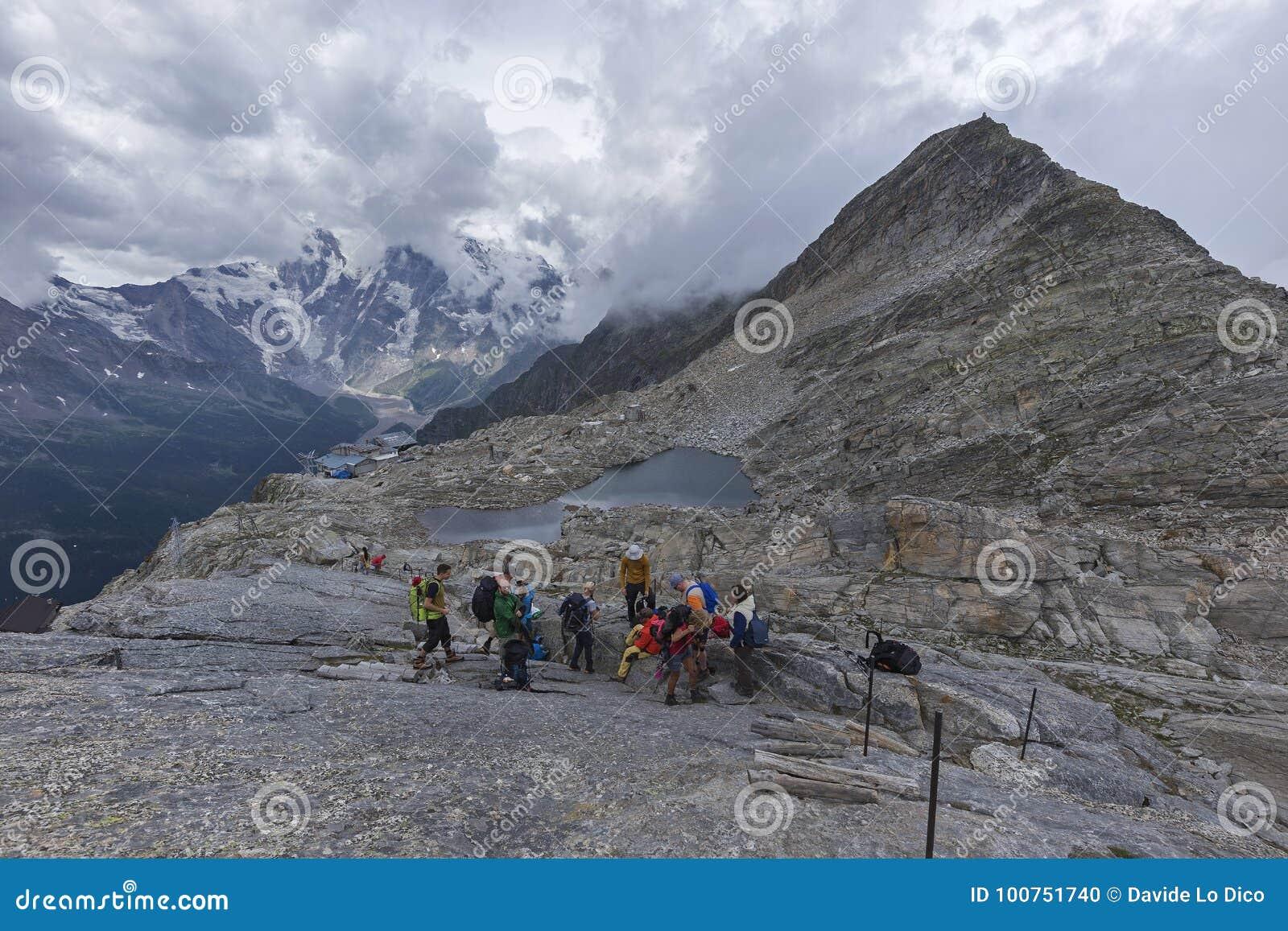 Grupo de caminhantes