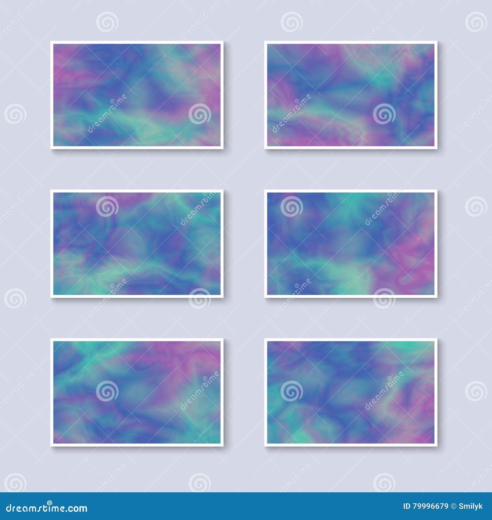 Grupo de cartões coloridos do inclinação