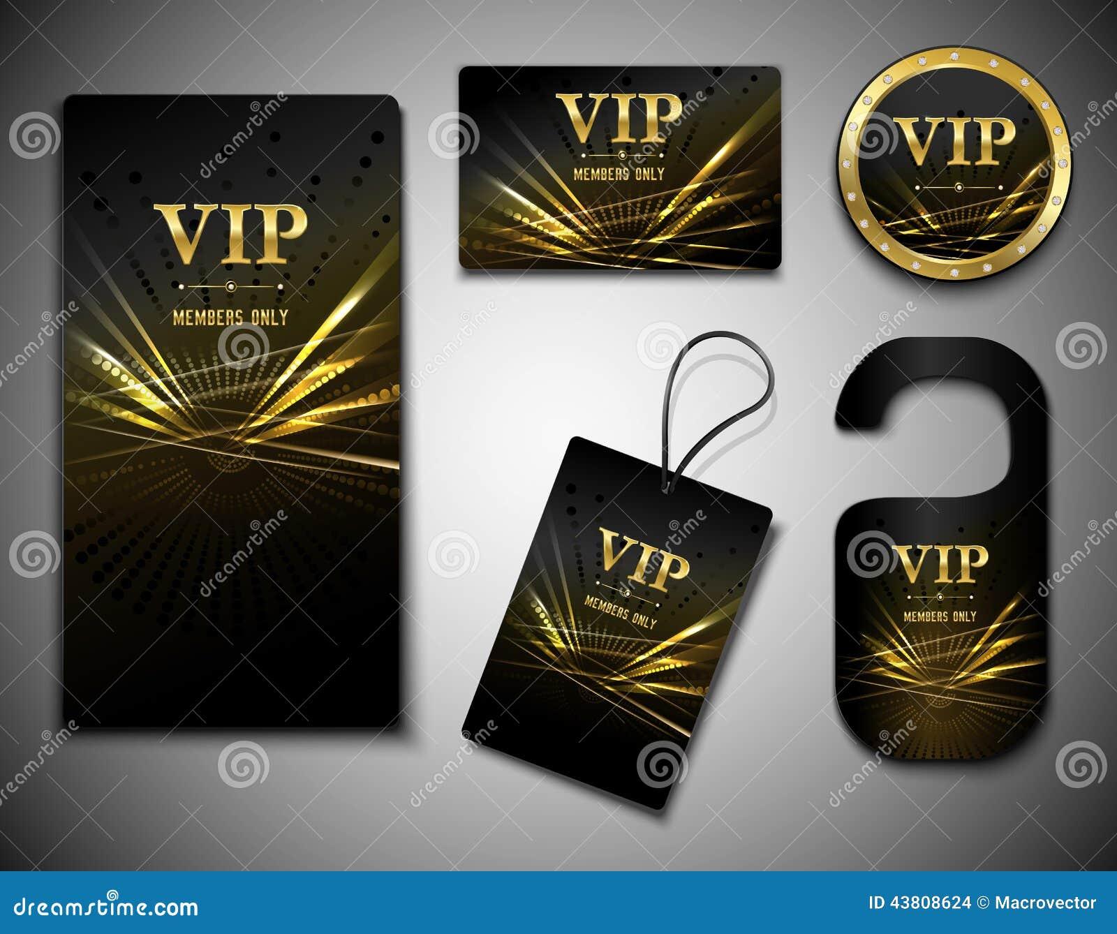 Grupo de cartões do Vip