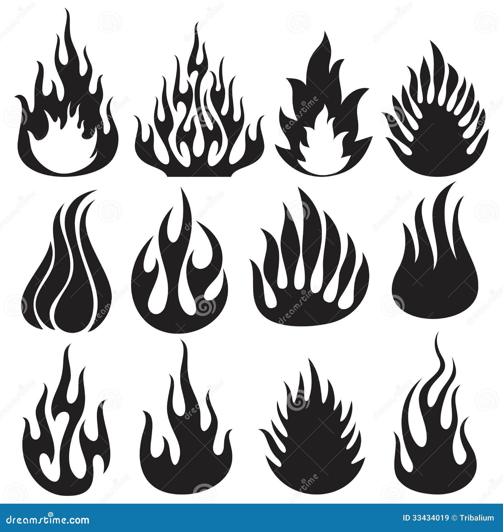 Grupo de chamas do vetor