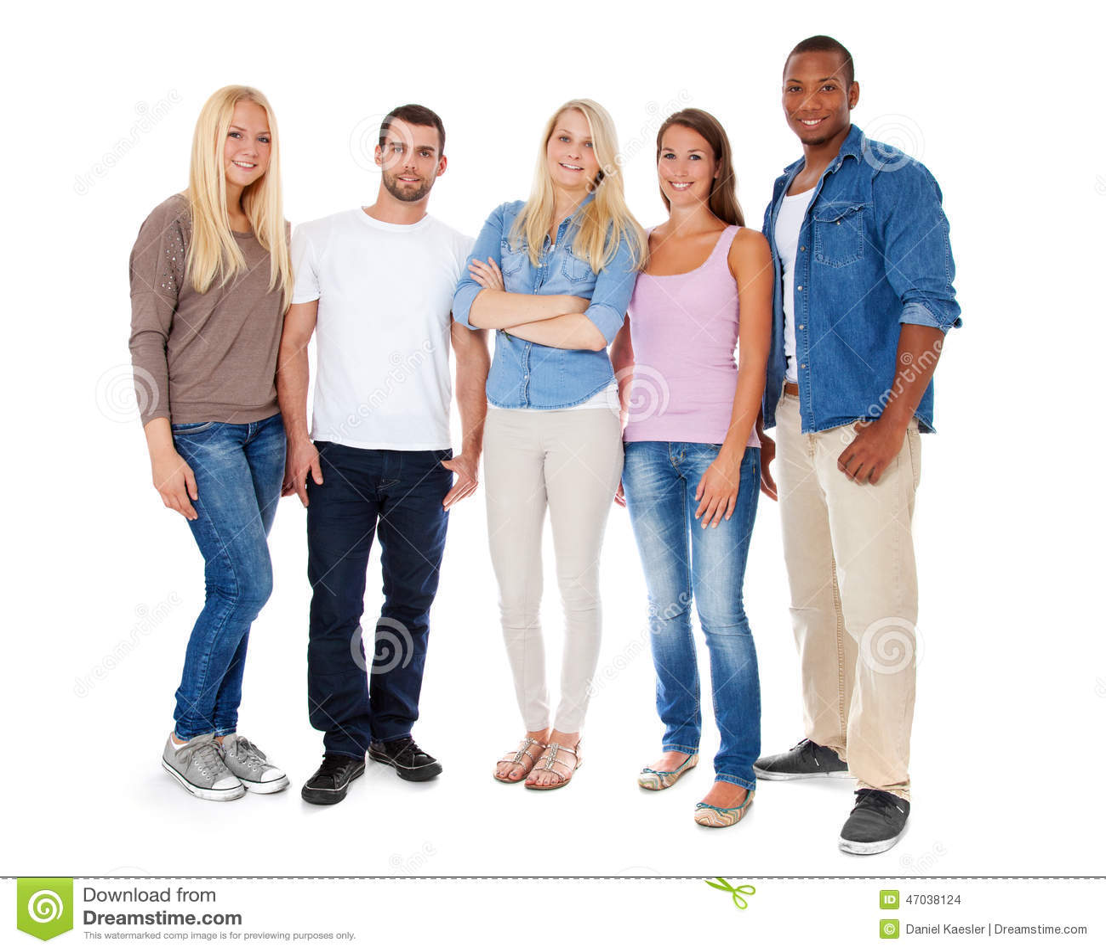 Grupo de cinco personas jovenes foto de archivo imagen for Hoteles para 5 personas