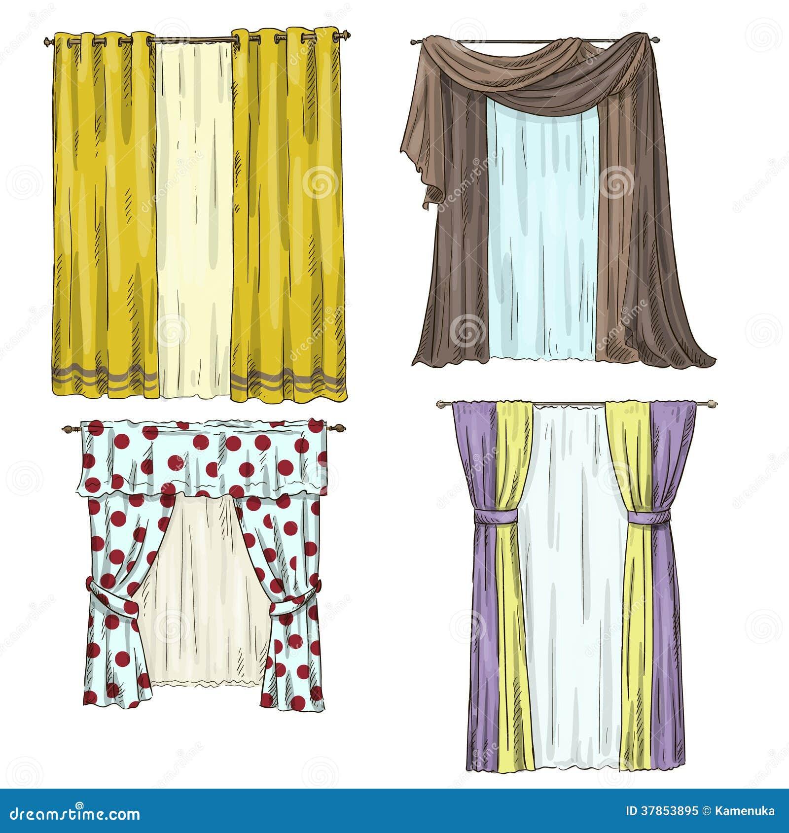 Grupo de cortinas detalhes interiores estilo dos - Estilos de cortinas ...