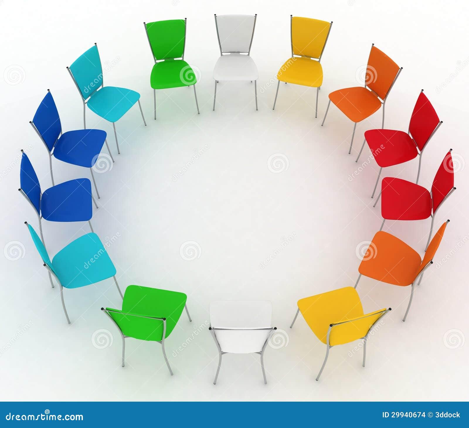 Grupo de custos das cadeiras redondos
