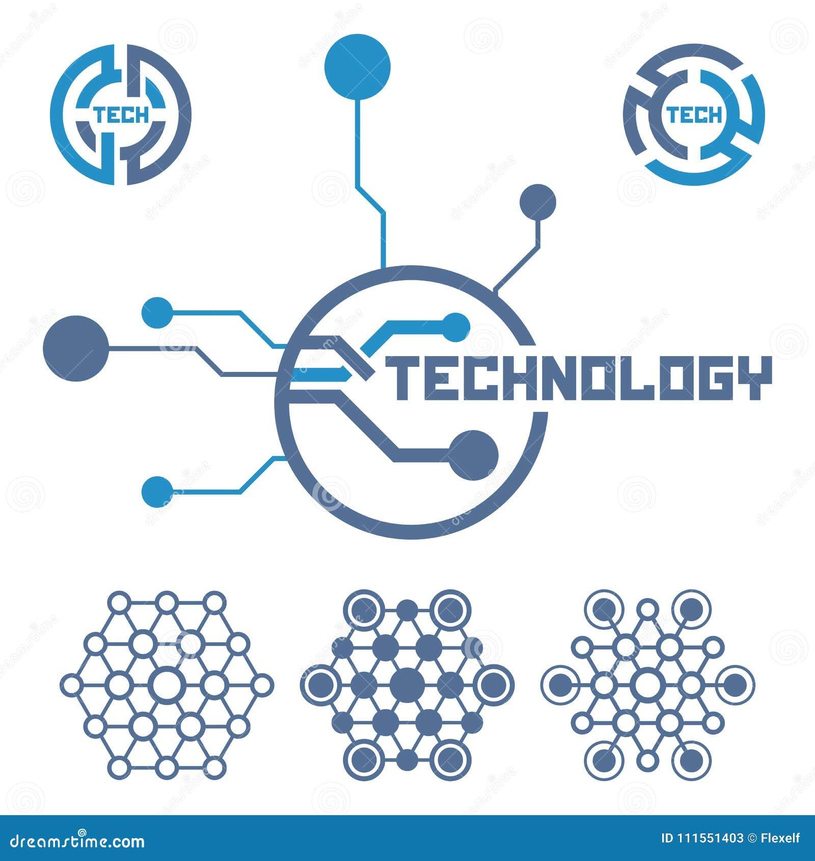 Circuito Eletronica : Grupo de elementos da tecnologia do circuito Ícone da eletrônica