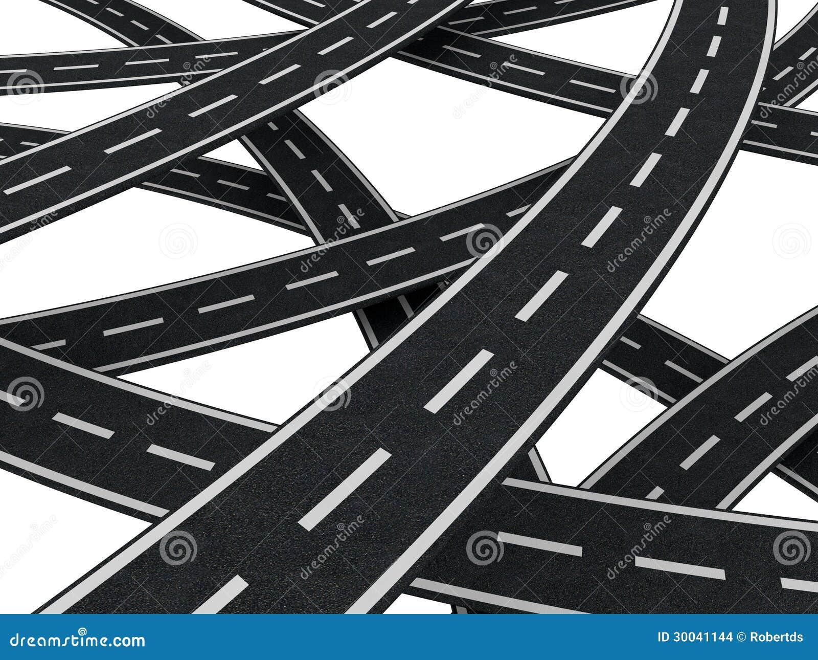 Caos de muitas estradas