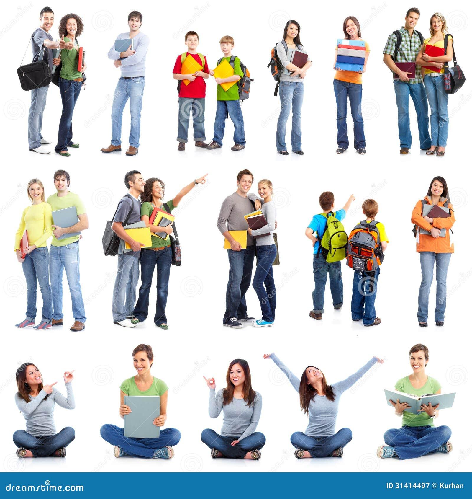Grupo de estudantes.