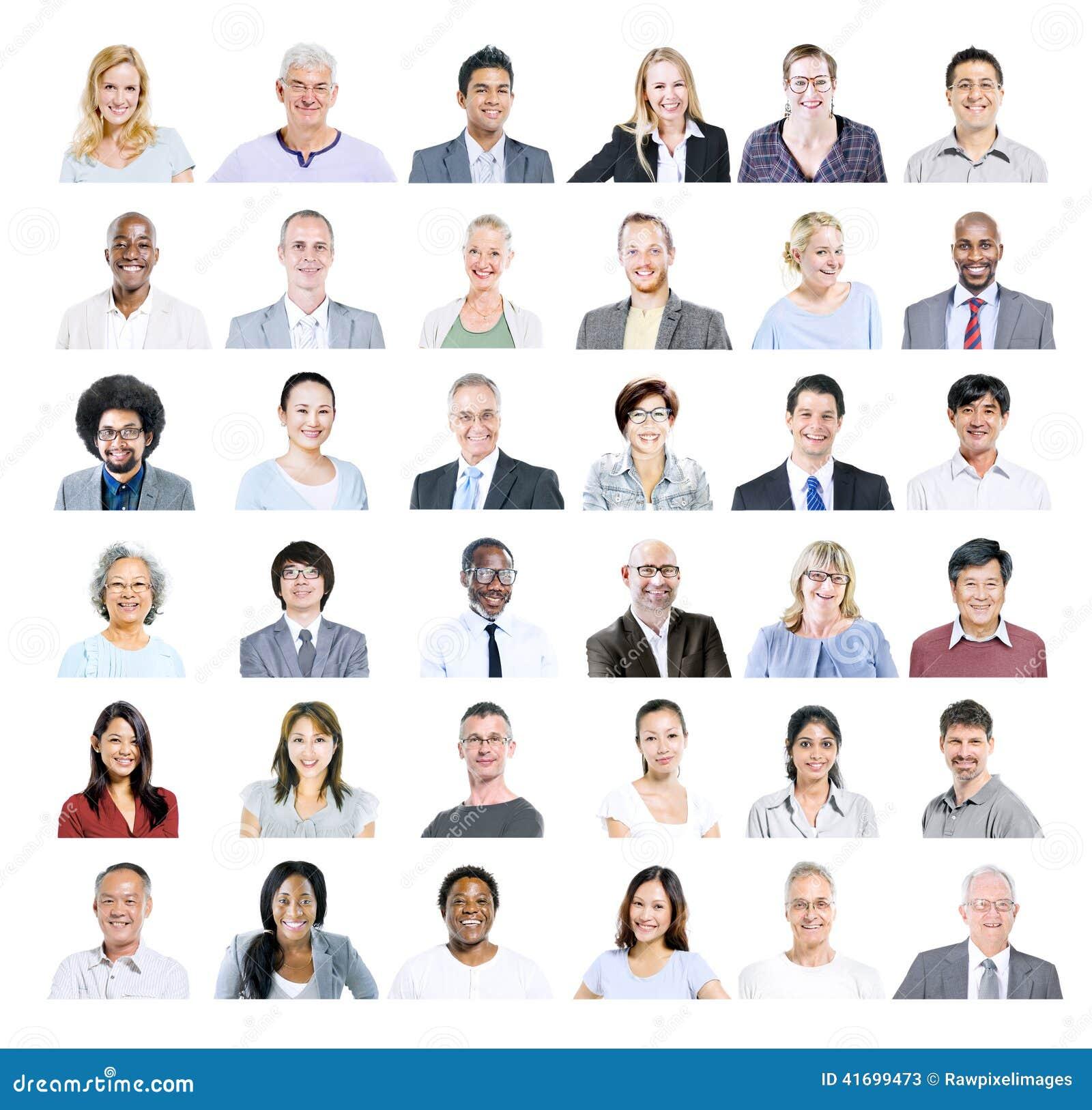 Grupo de executivos diversos multi-étnicos