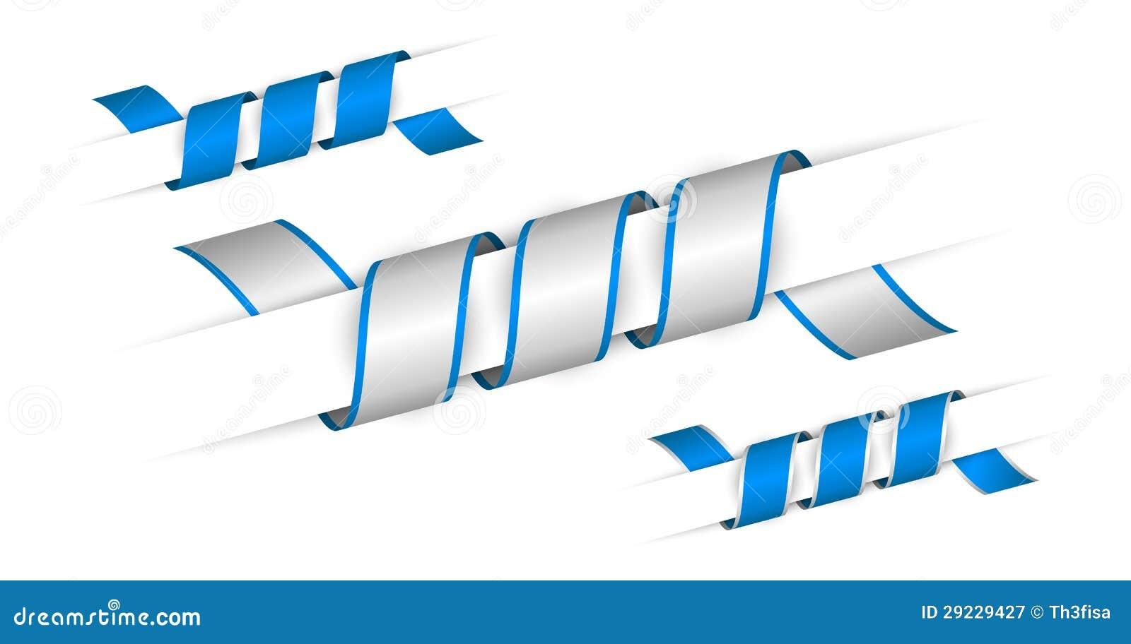 Download Grupo De Fitas Torcidas Azuis Ilustração Stock - Ilustração de borda, linha: 29229427