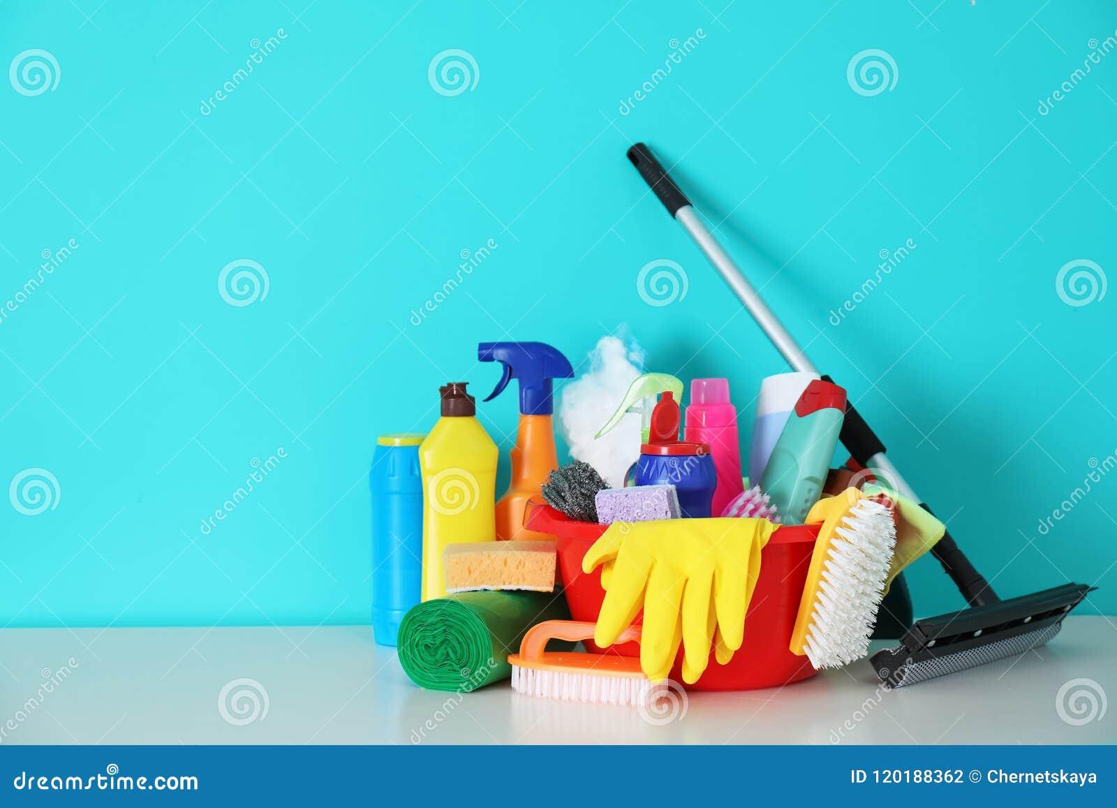 Grupo de fontes de limpeza