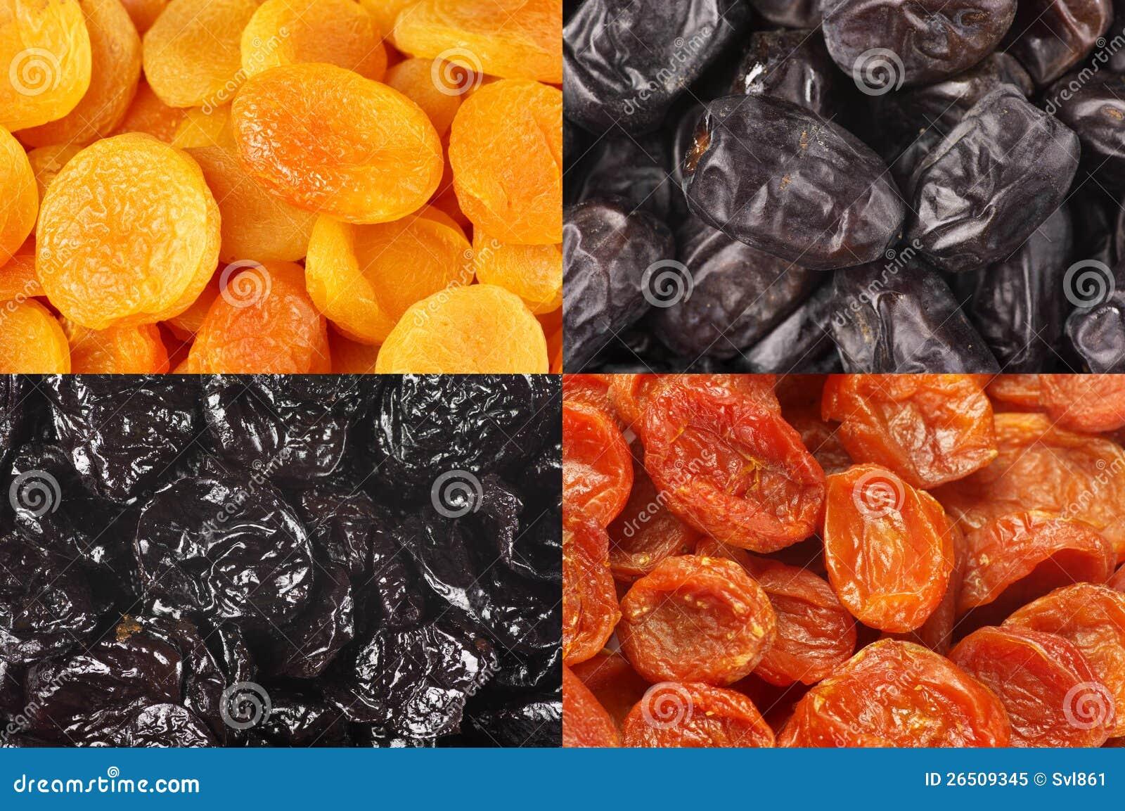 Grupo de frutos secados