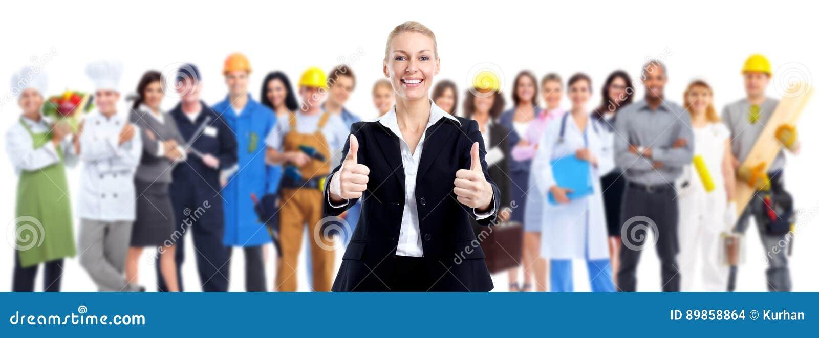 Grupo de gente de los trabajadores