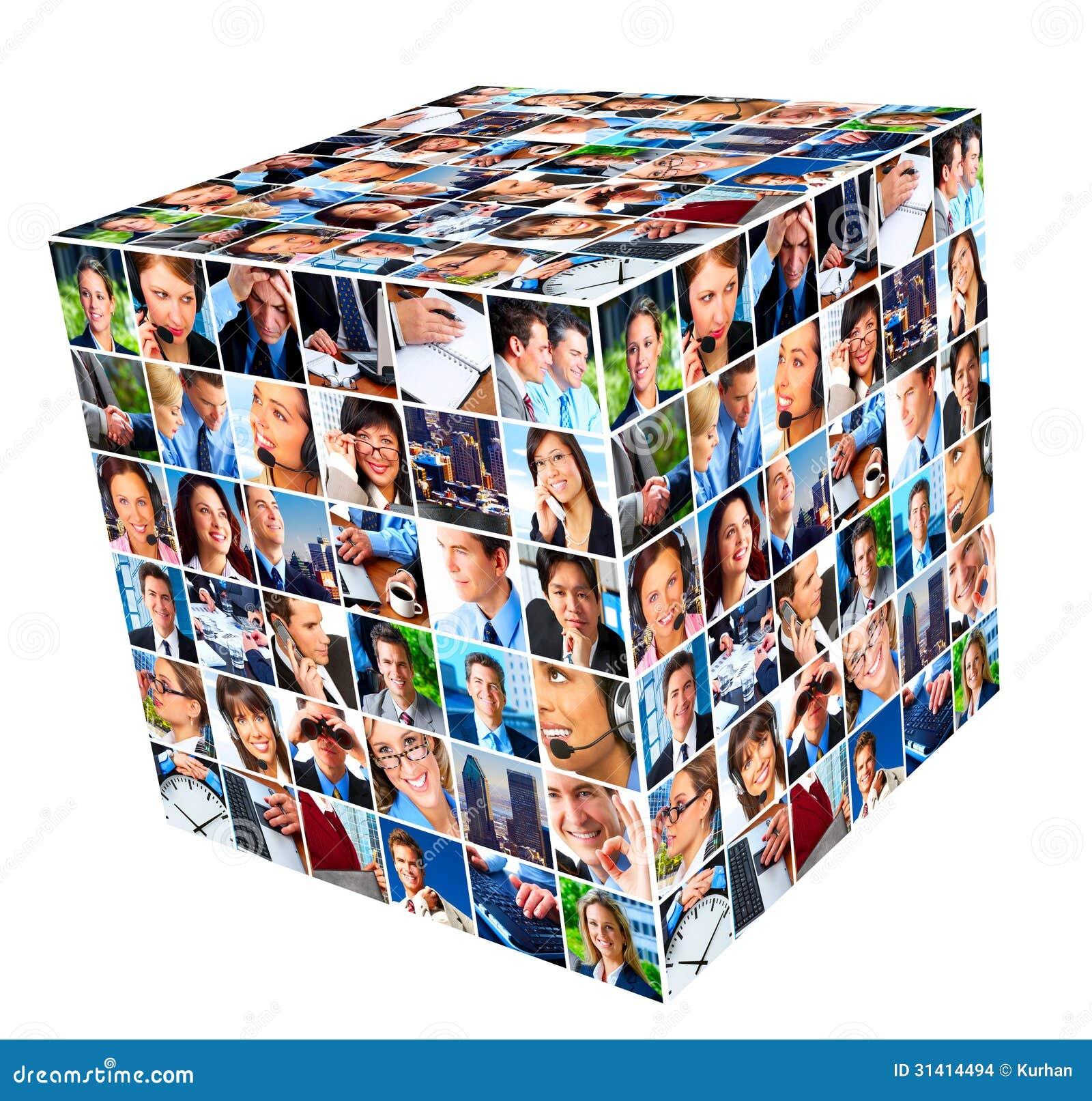 grupo de hombres de negocios del collage imagenes de archivo imagen 31414494. Black Bedroom Furniture Sets. Home Design Ideas
