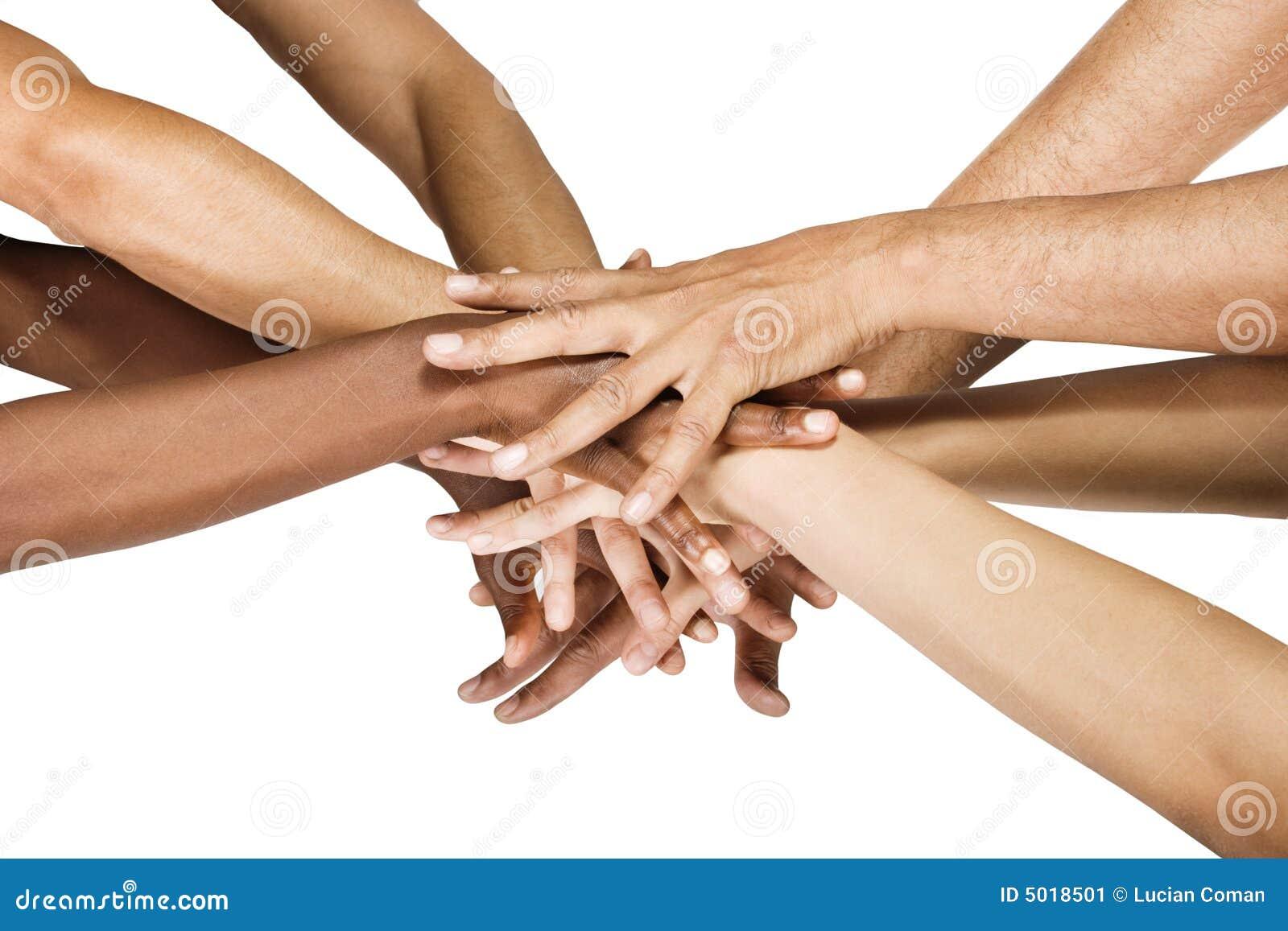 Grupo de las manos