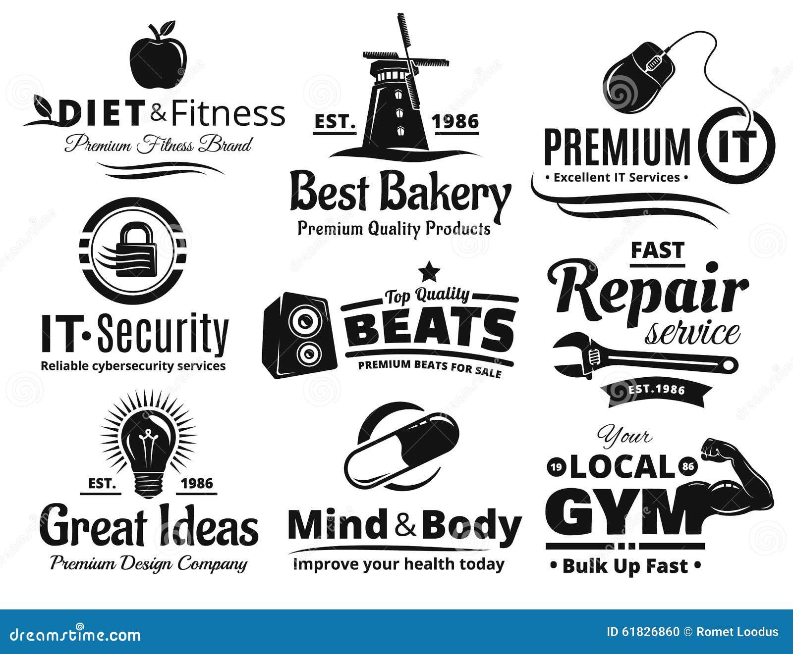 Grupo de Logo Label Insignia And Icon