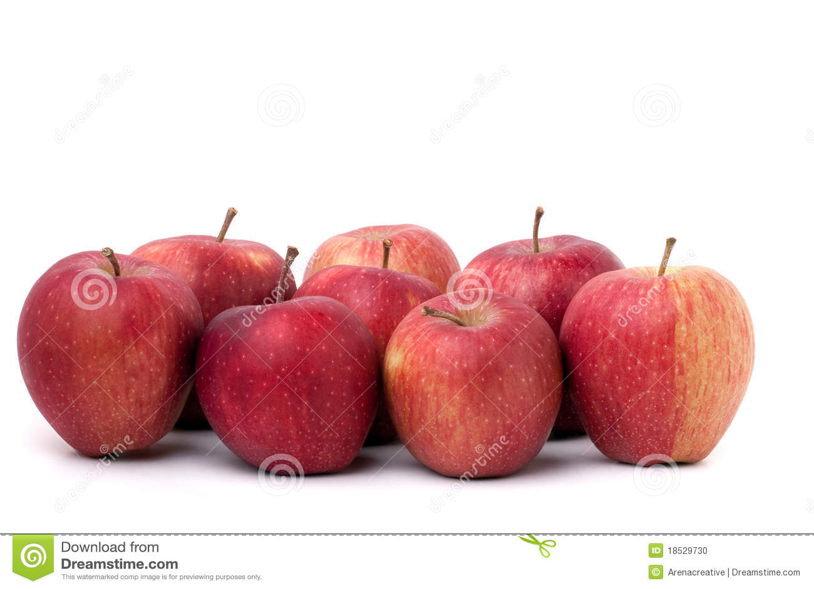 Grupo de manzanas rojas