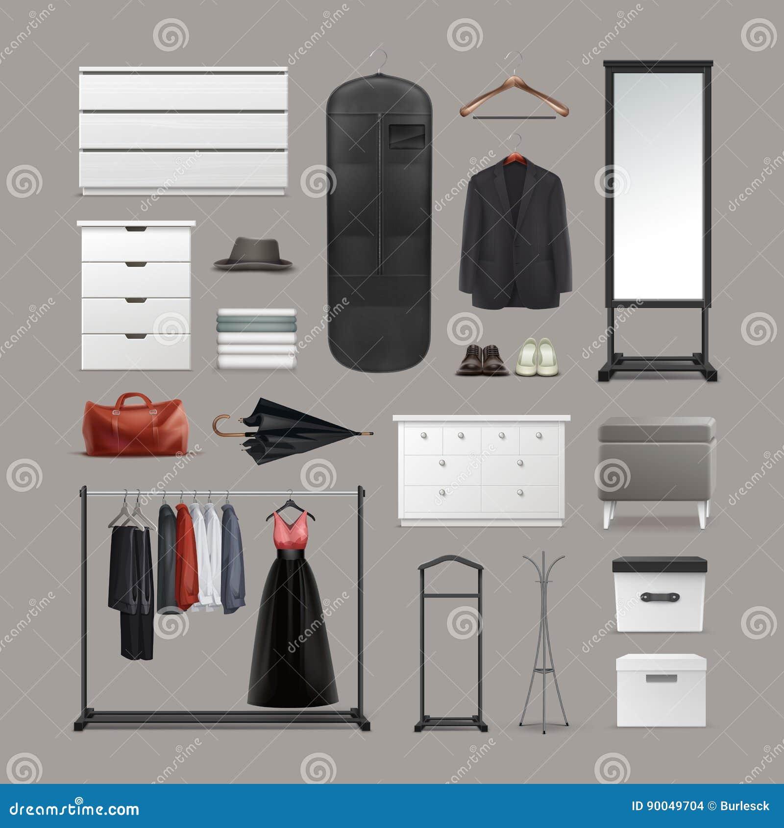 Grupo de material do vestuário