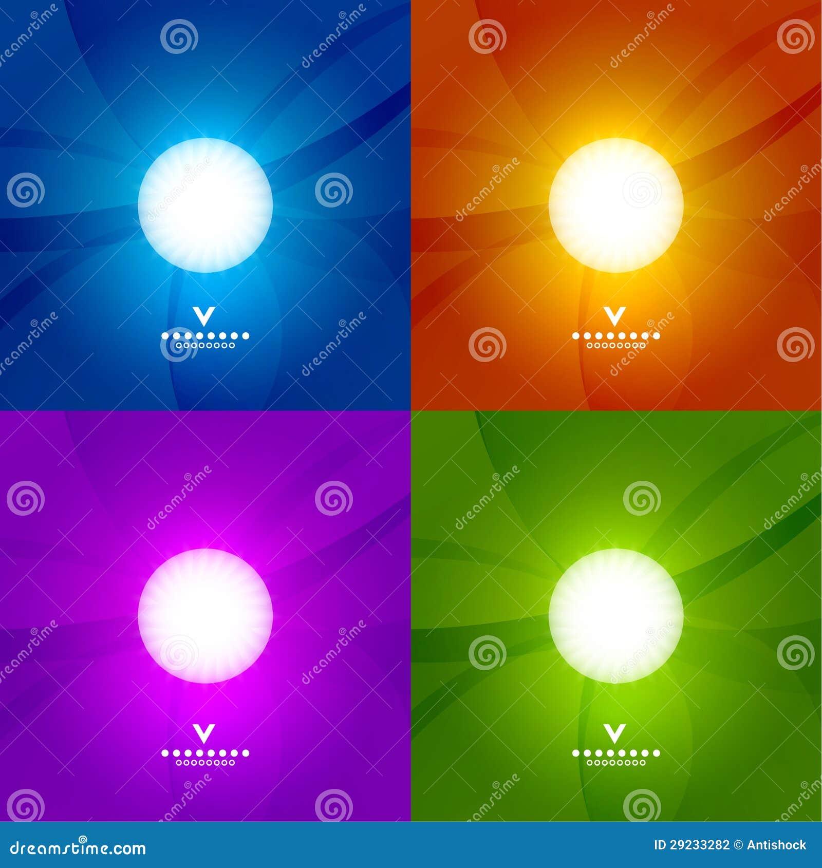 Download Grupo De Moldes Brilhantes Coloridos Do Projeto Ilustração do Vetor - Ilustração de brilhante, arte: 29233282