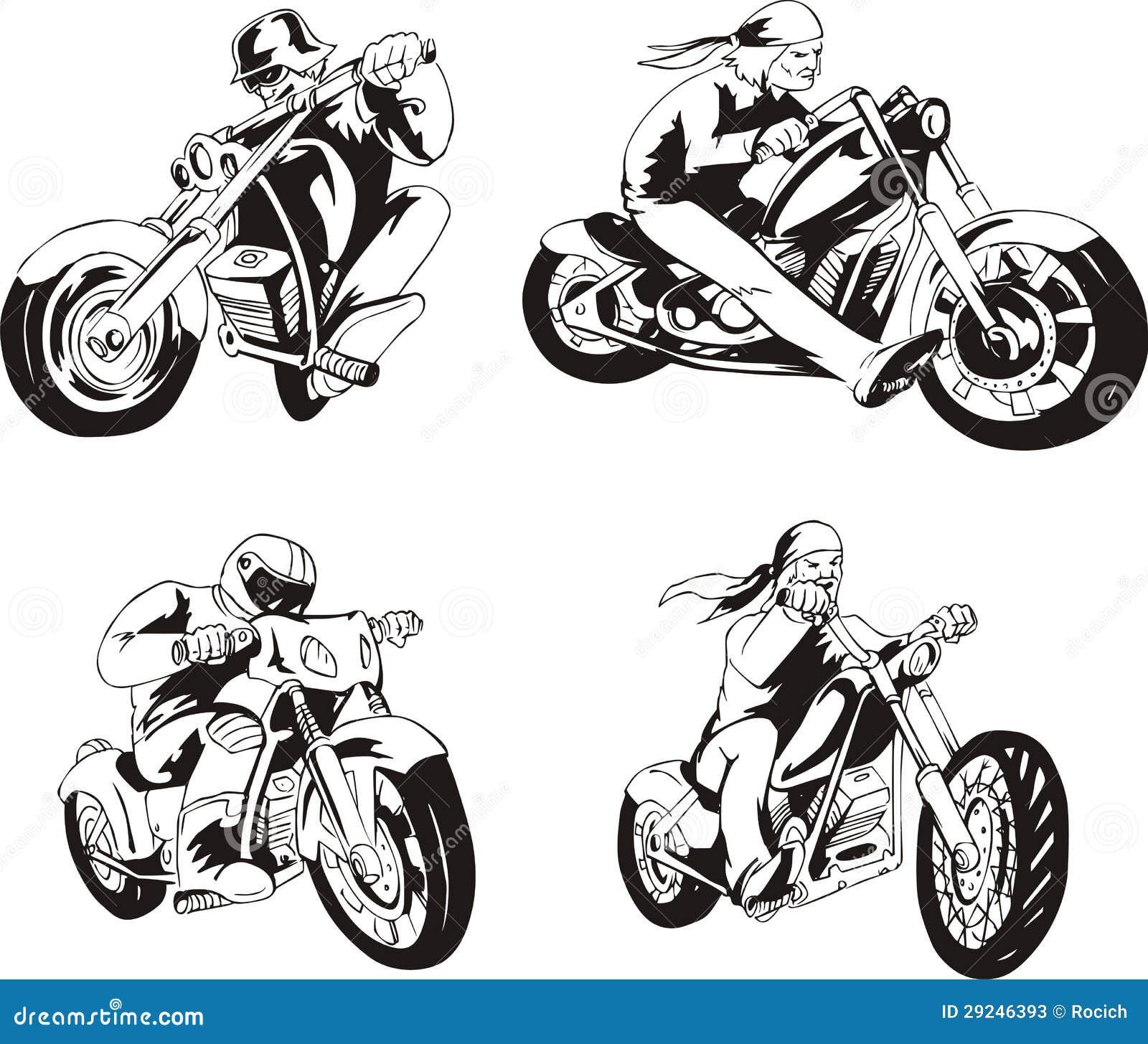 Download Grupo de motociclistas ilustração do vetor. Ilustração de ciclo - 29246393