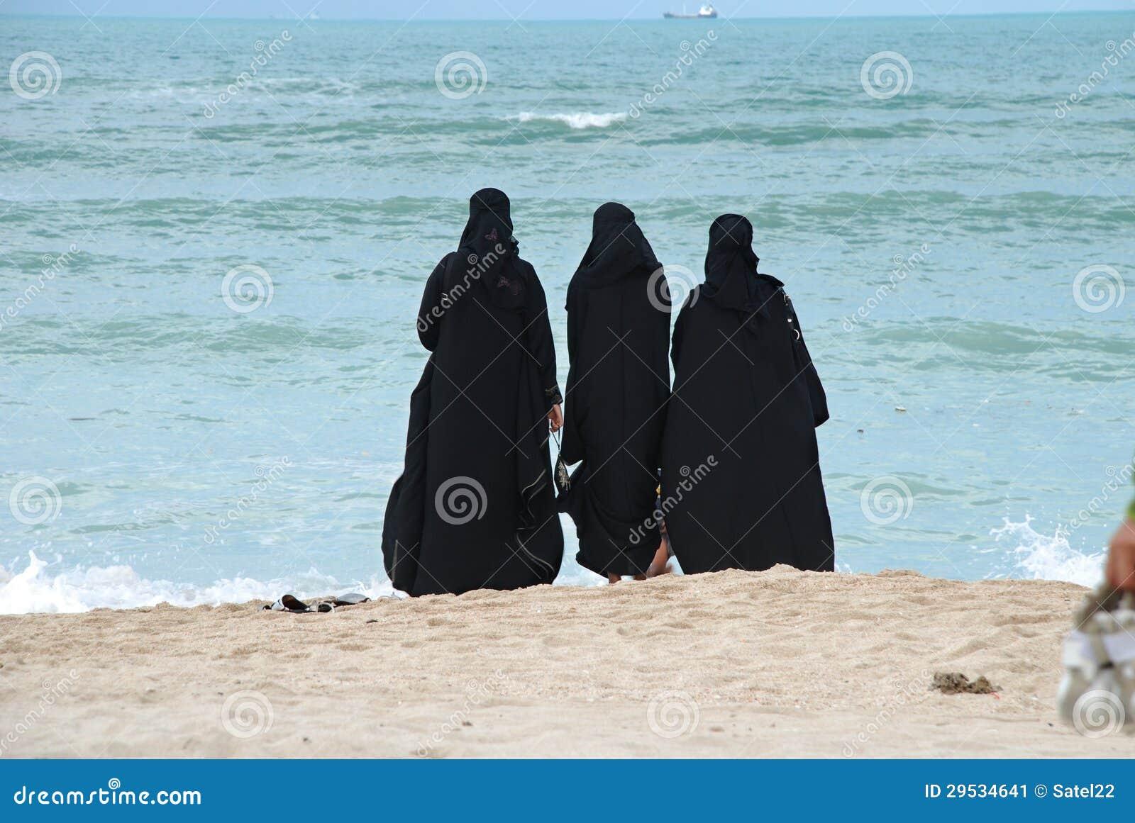 Grupo de mulheres árabes