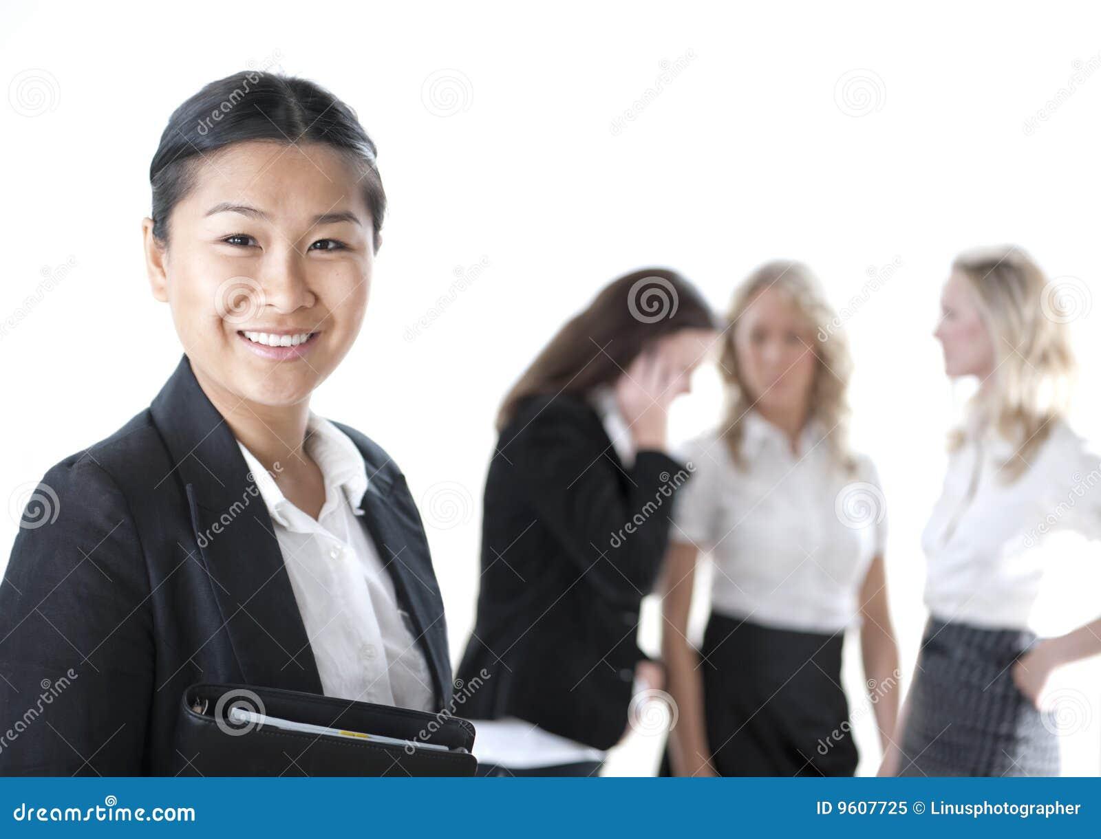 Grupo de mulheres de negócio
