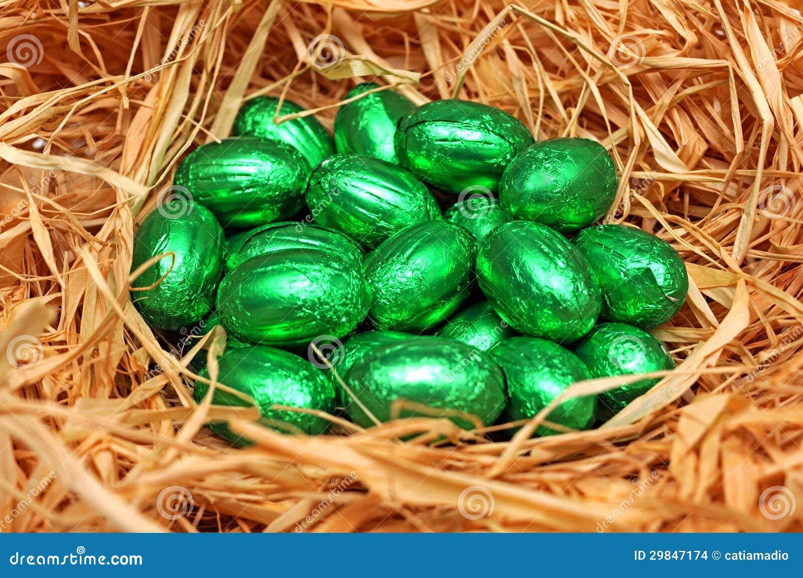 Ovos da páscoa verdes